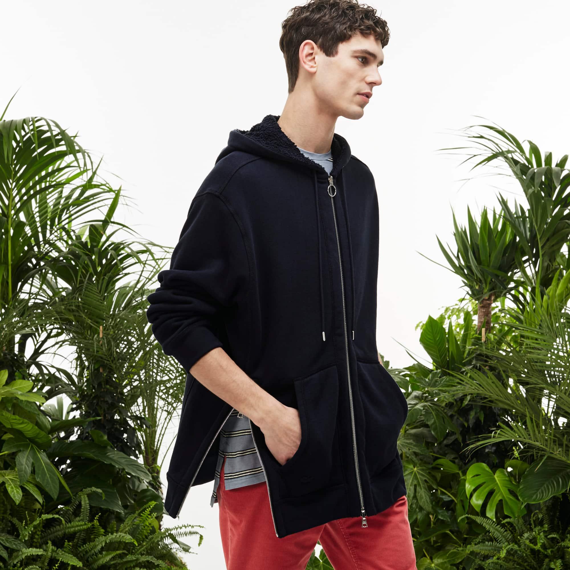 Men's Fashion Show Fleece Reversible Hooded Zippered Sweatshirt