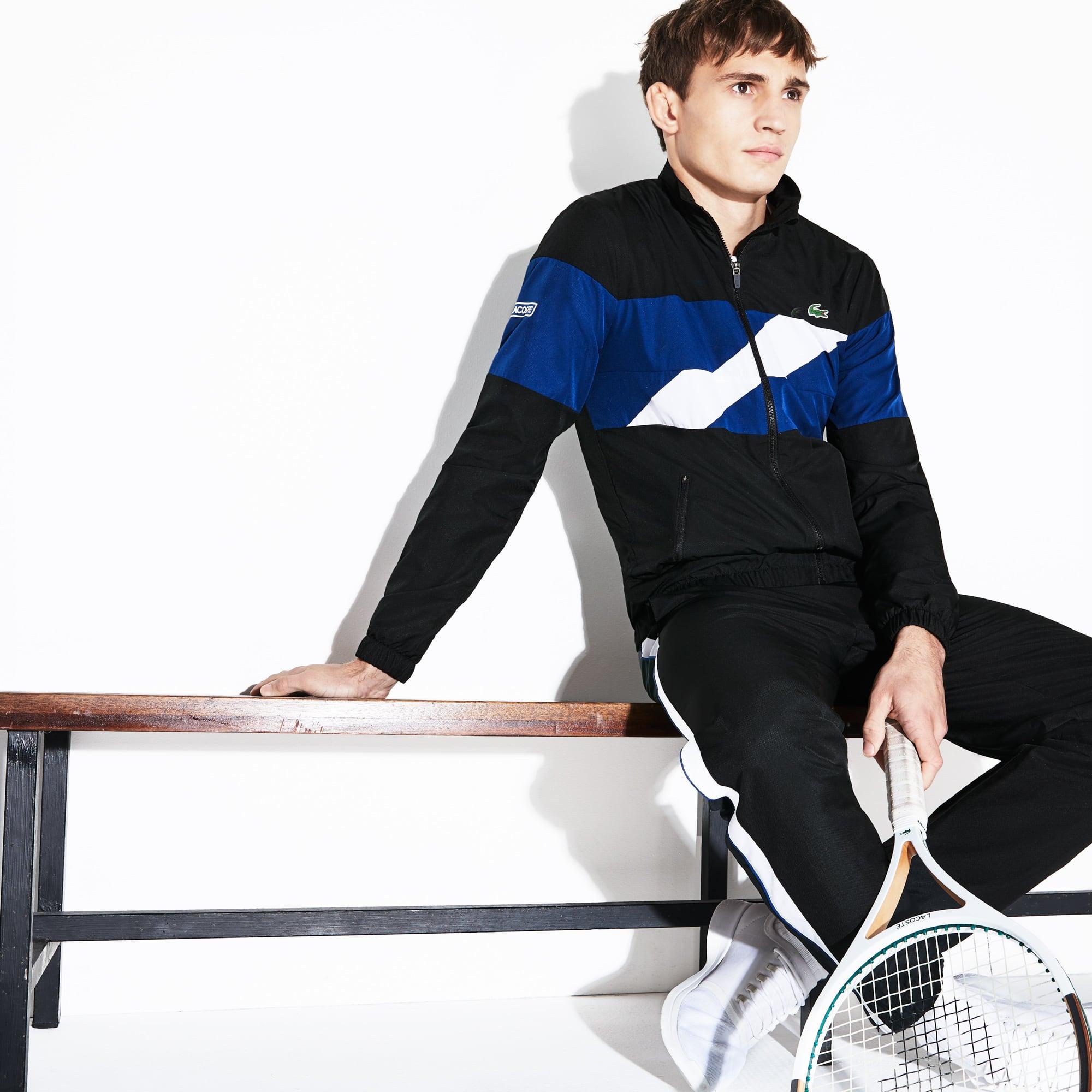 Men's SPORT Colored Bands Taffeta Tennis Tracksuit
