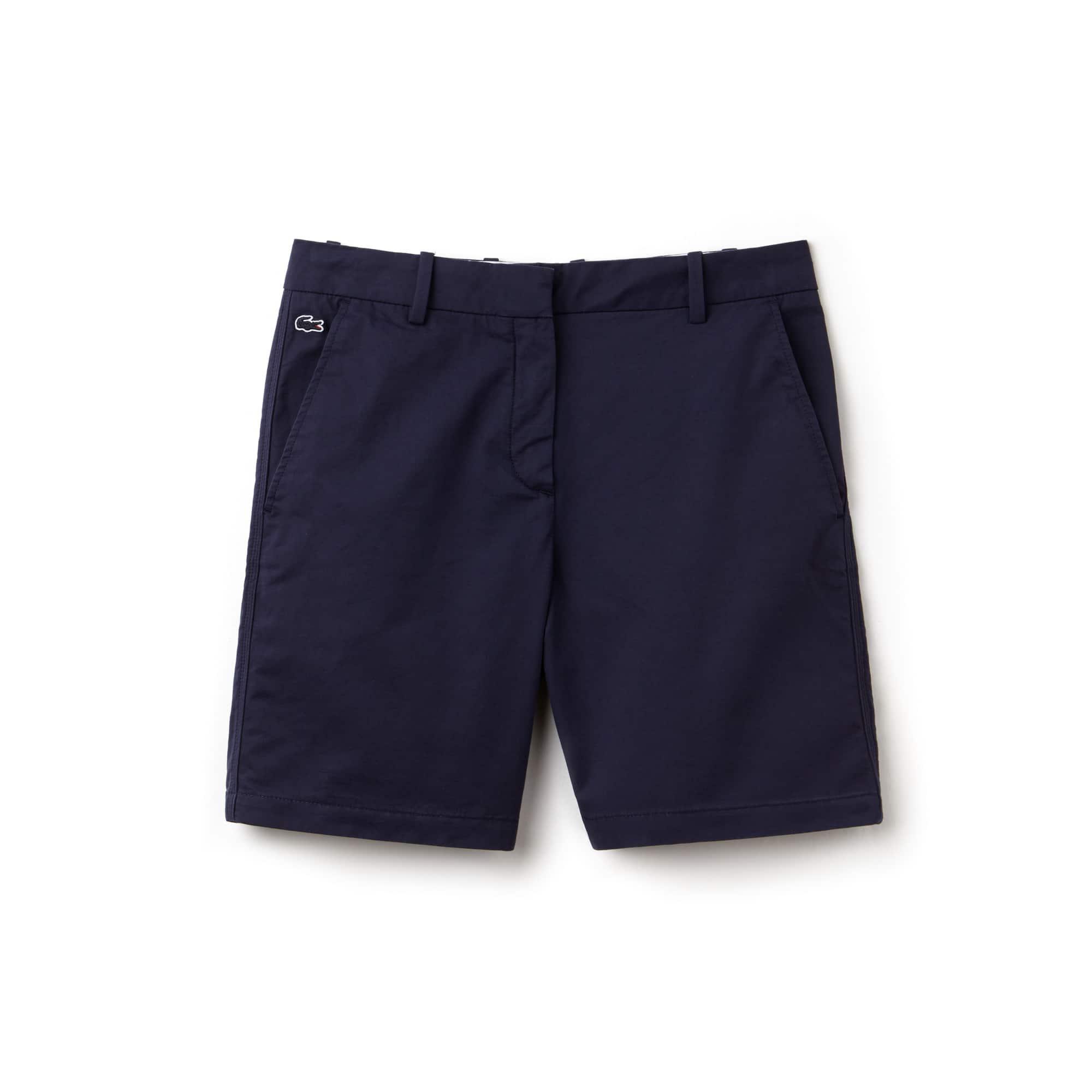 라코스테 반바지 Lacoste Womens Stretch Bermuda Shorts,navy blue