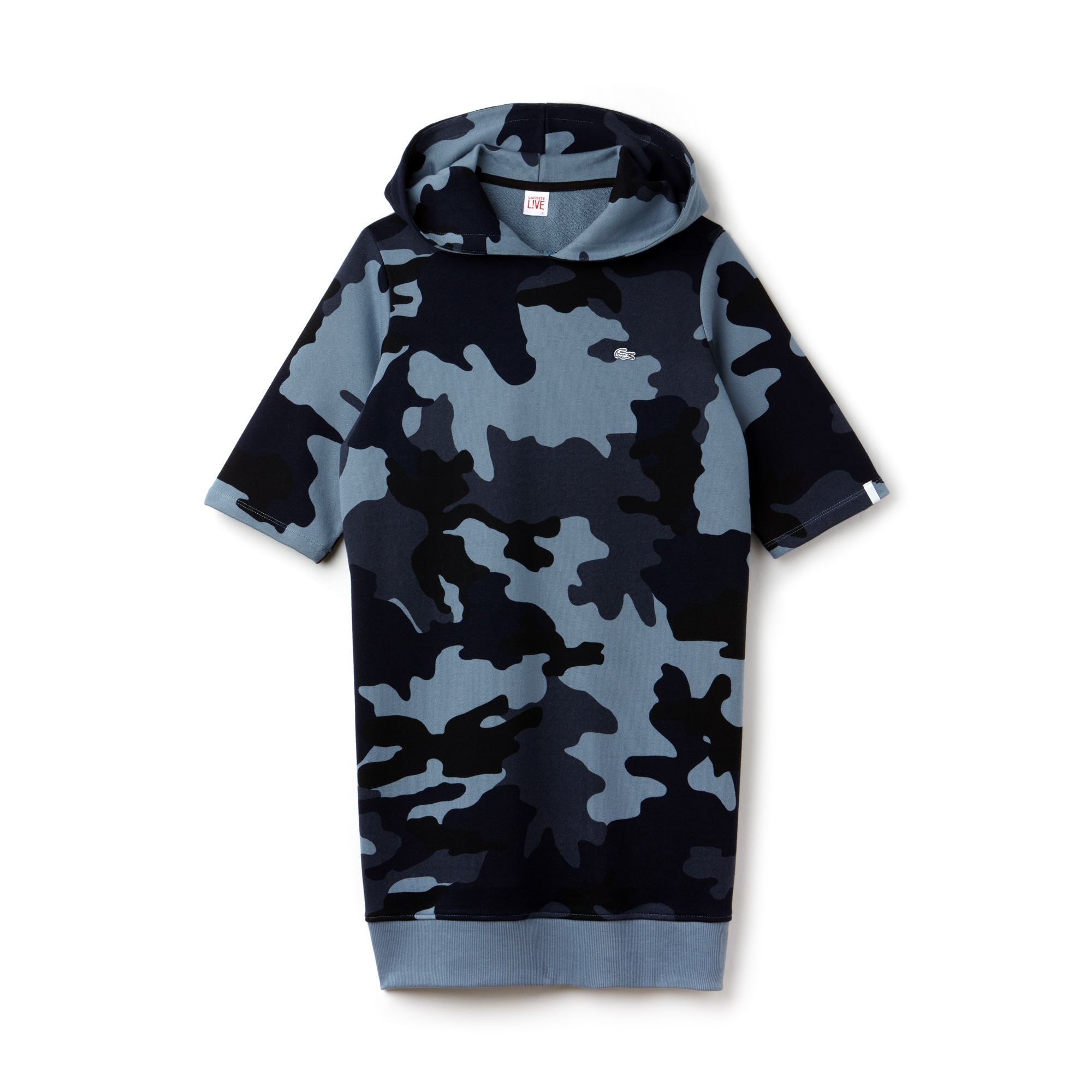 Women's LIVE Hooded Camouflage Fleece Sweatshirt Dress