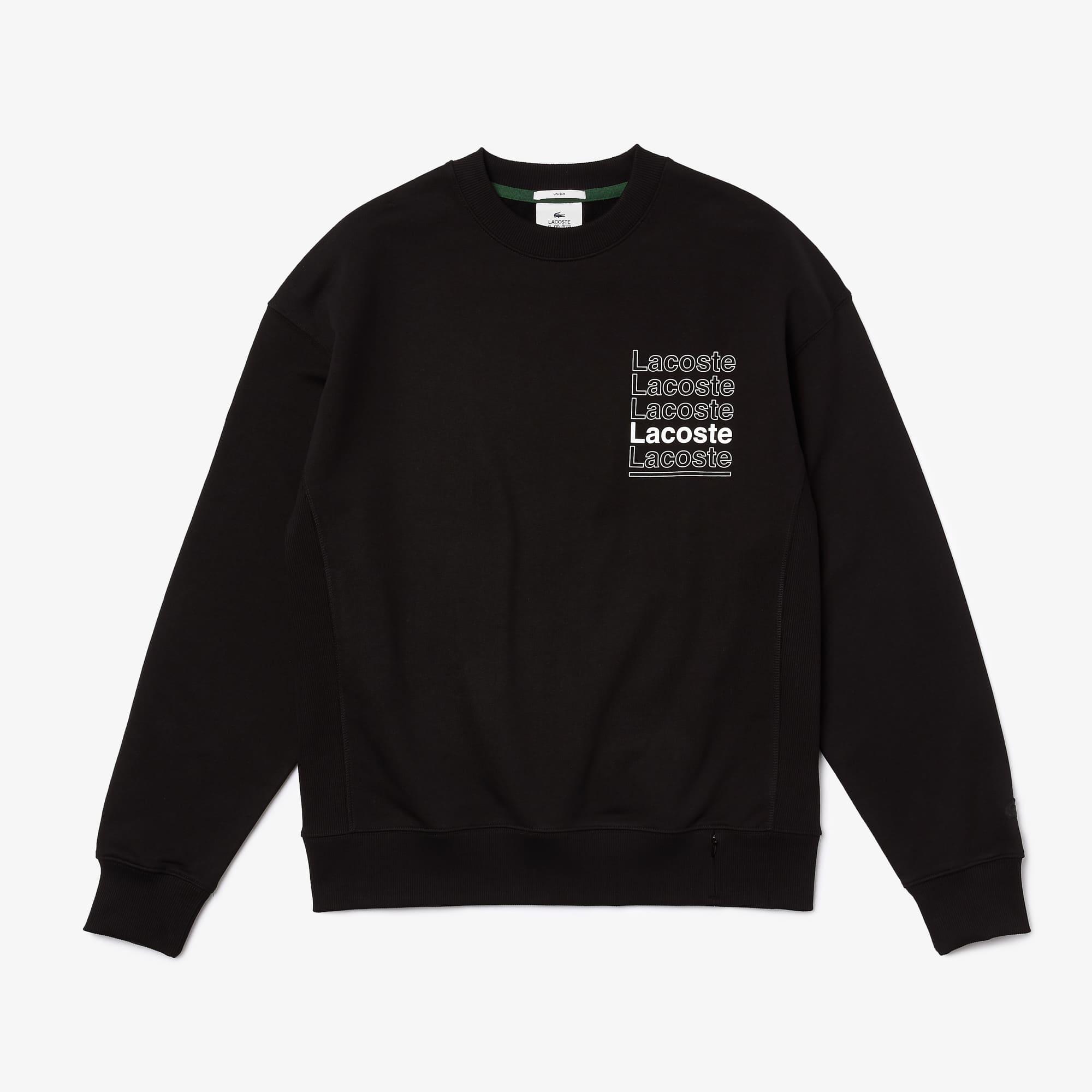 라코스테 라이브 맨 루즈핏 맨투맨 Lacoste Men's LIVE Loose Fit Crew Neck Print Fleece Sweatshirt