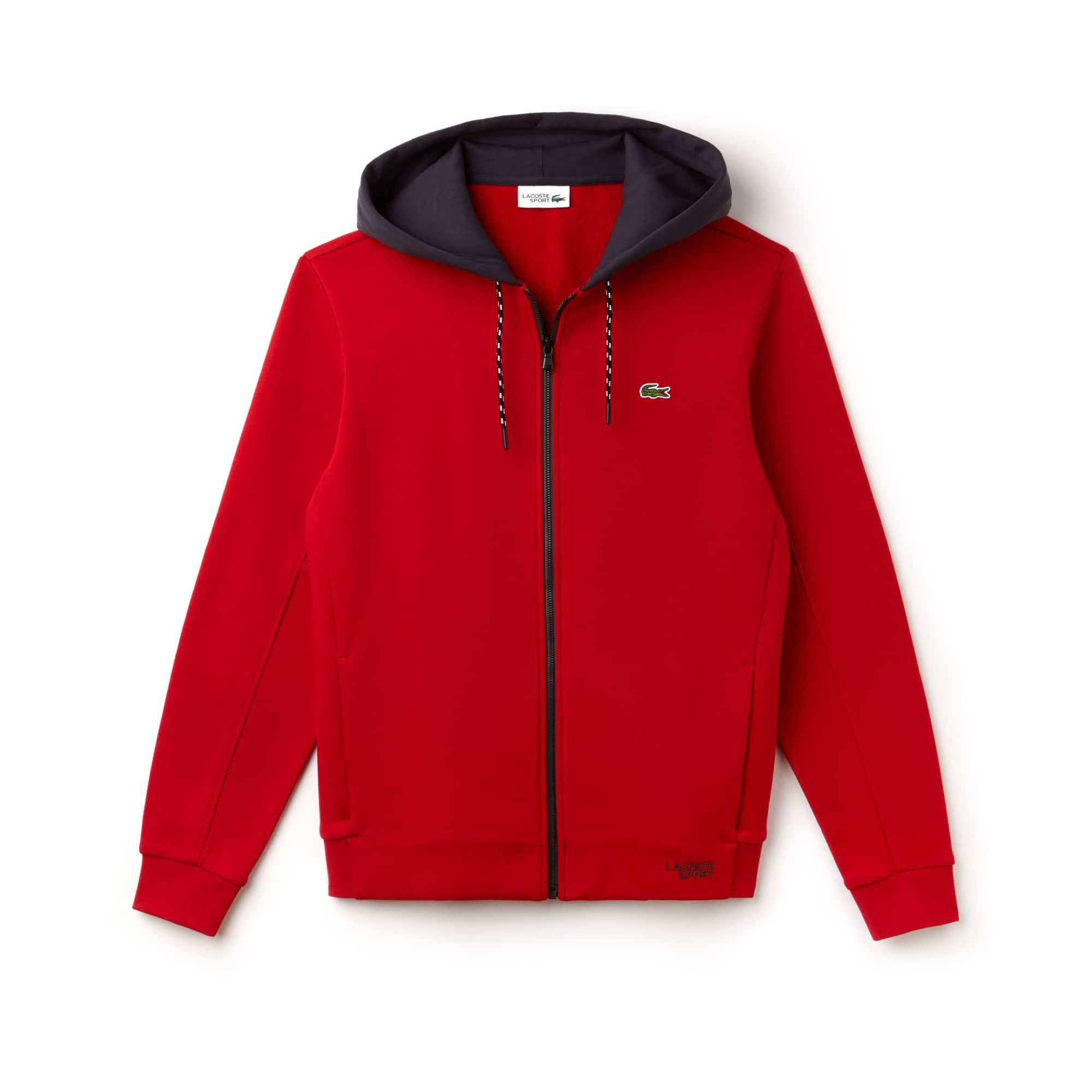 88462bfa Men's SPORT Contrast Hood Fleece Tennis Sweatshirt