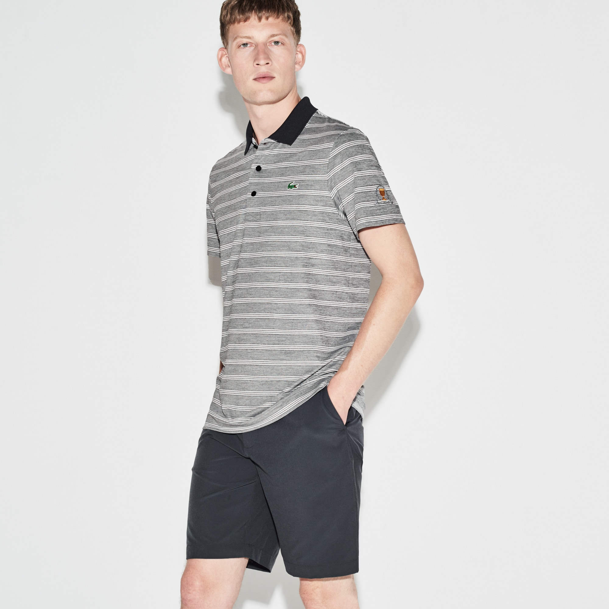 Men's  SPORT Presidents Cup Edition Striped Jersey Polo