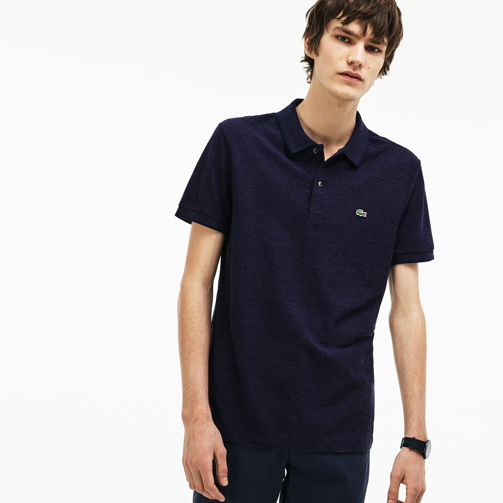 Men's Regular Fit Flamme Piqué Polo