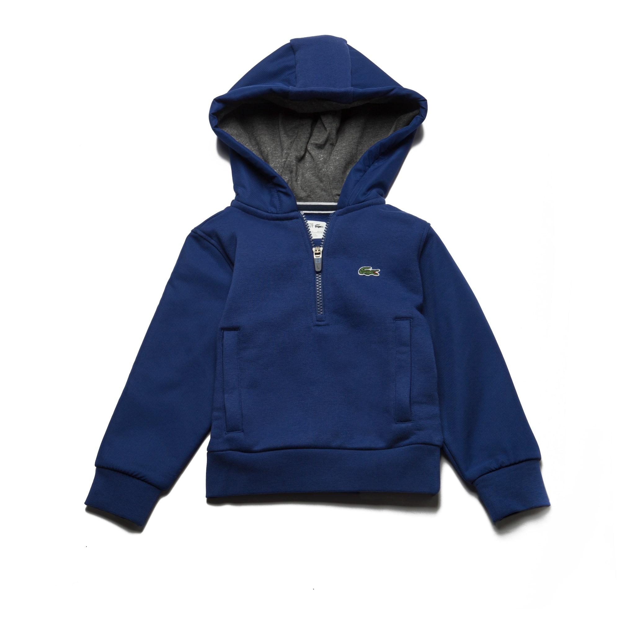 Boys'  SPORT Tennis Hooded Bi-Material Sweatshirt