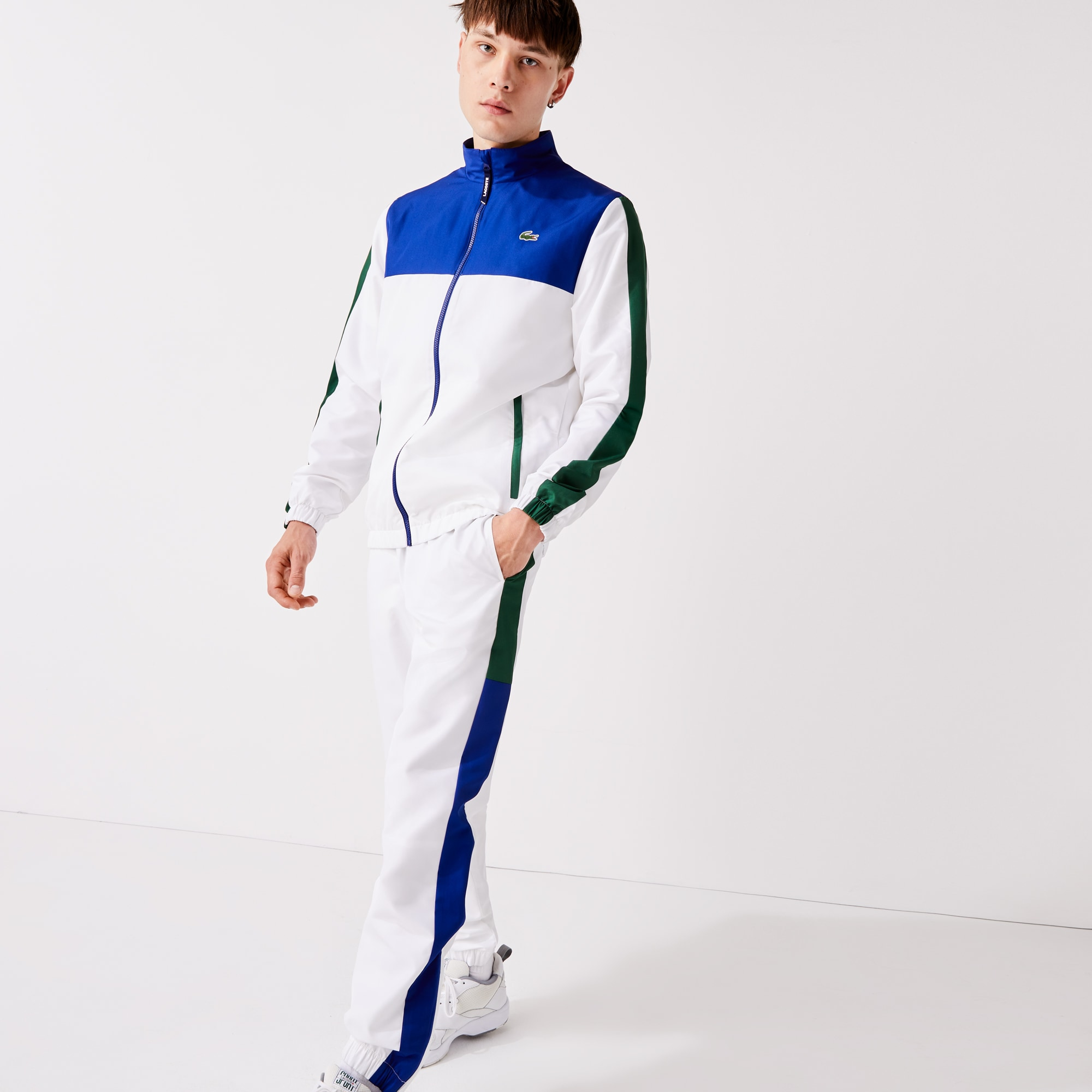 Mens 라코스테 Lacoste SPORT Lightweight Colourblock Tracksuit