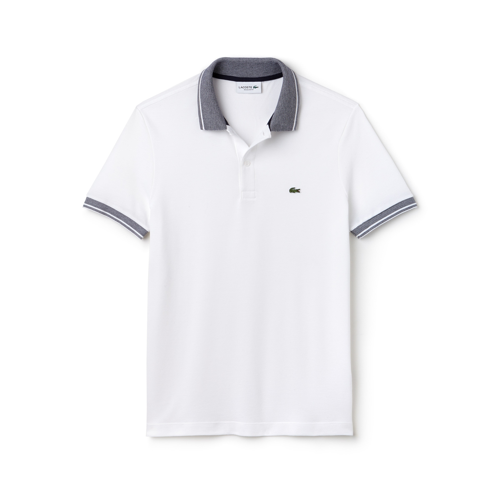 Men's Regular Fit Piped Piqué Polo