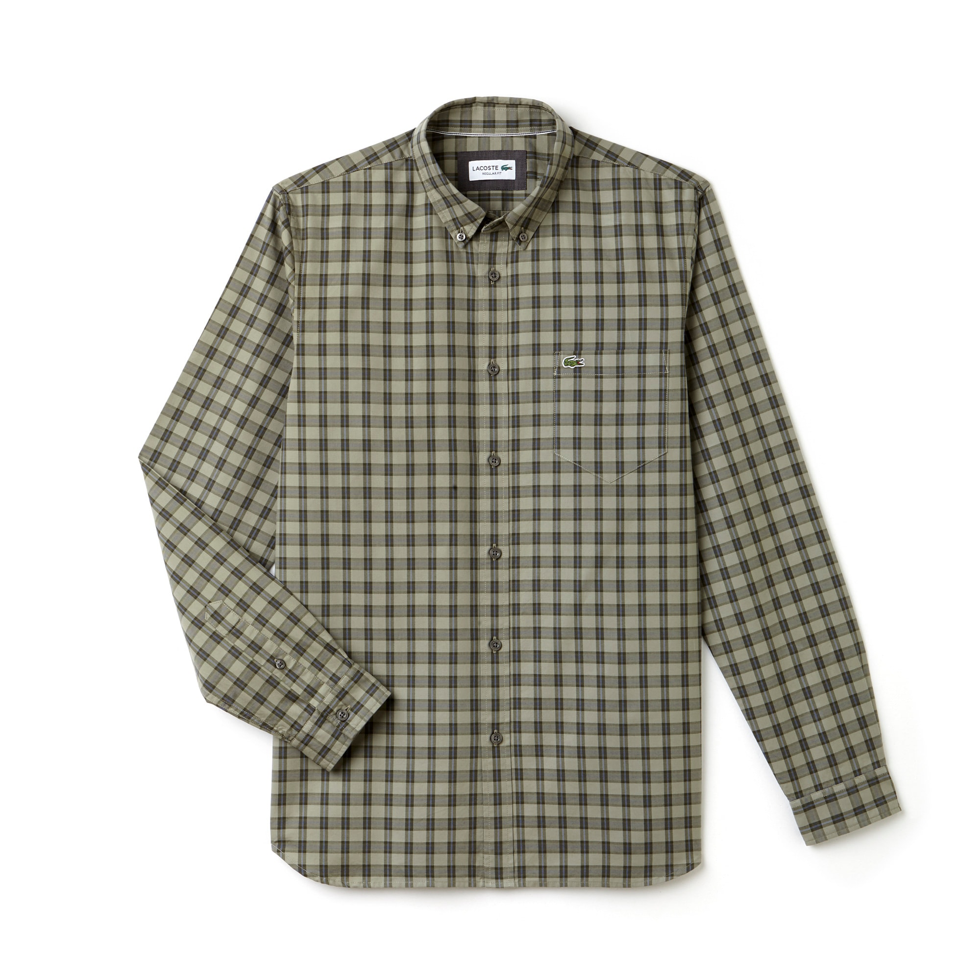 Men's Regular Fit Check Oxford Cotton Shirt