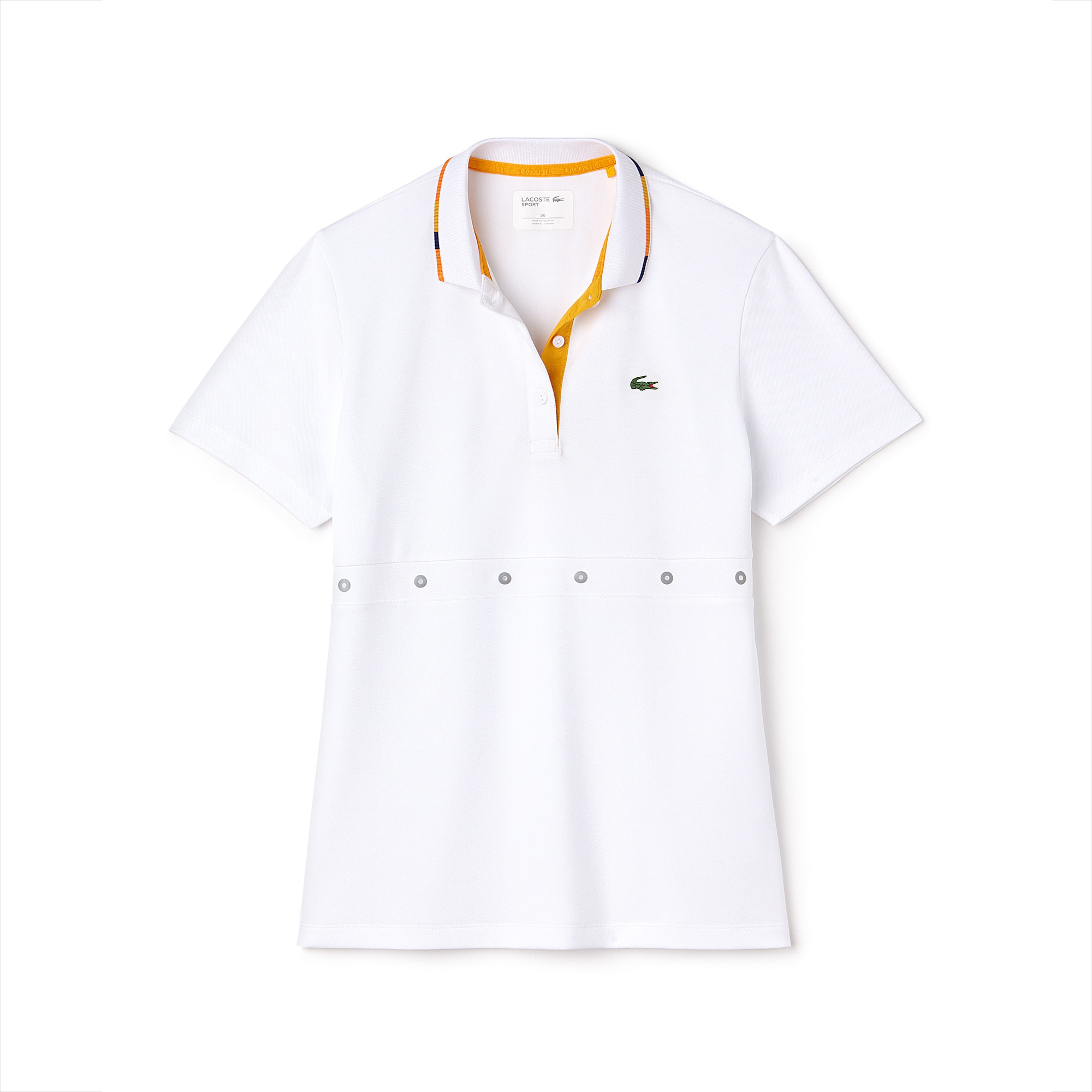 Women's SPORT Contrast Collar Tech Piqué Tennis Polo