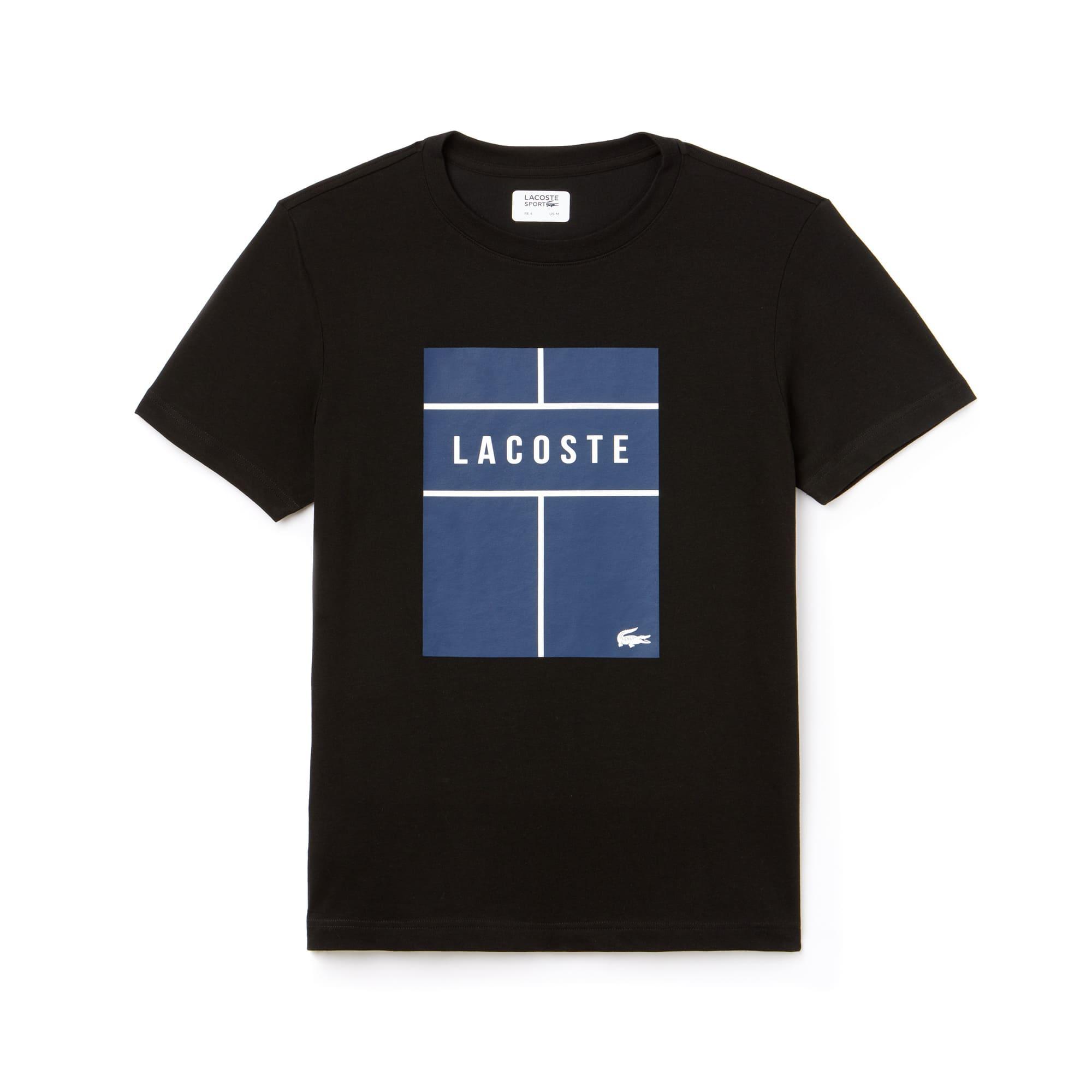 Men's SPORT Crew Neck Lettering Jersey Tennis T-shirt