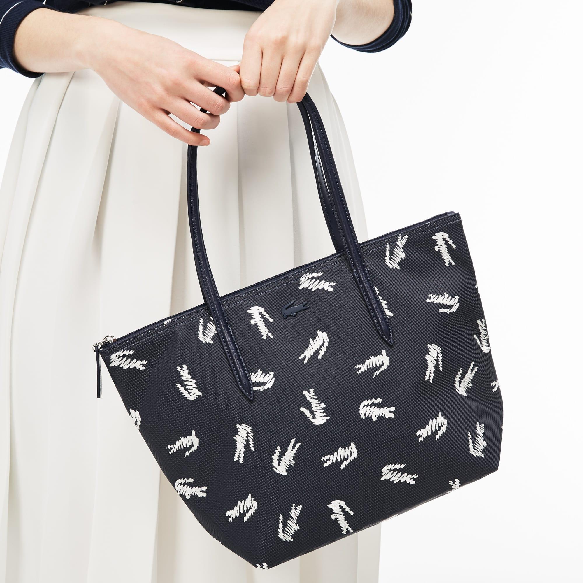 Women's L.12.12 Concept Croc Print Small Zip Tote Bag