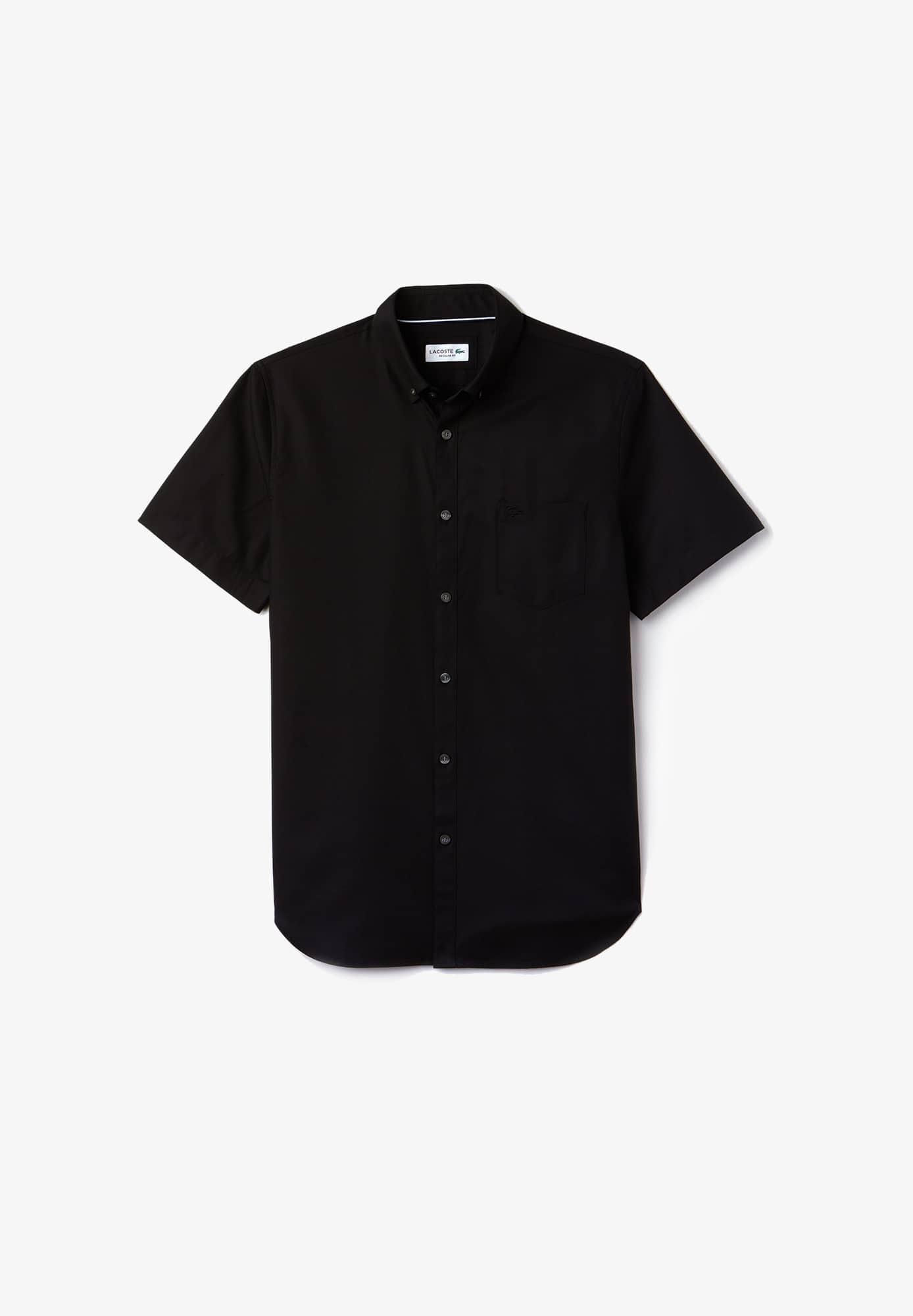 라코스테 Lacoste Mens Regular Fit Mini Pique Shirt,black / black
