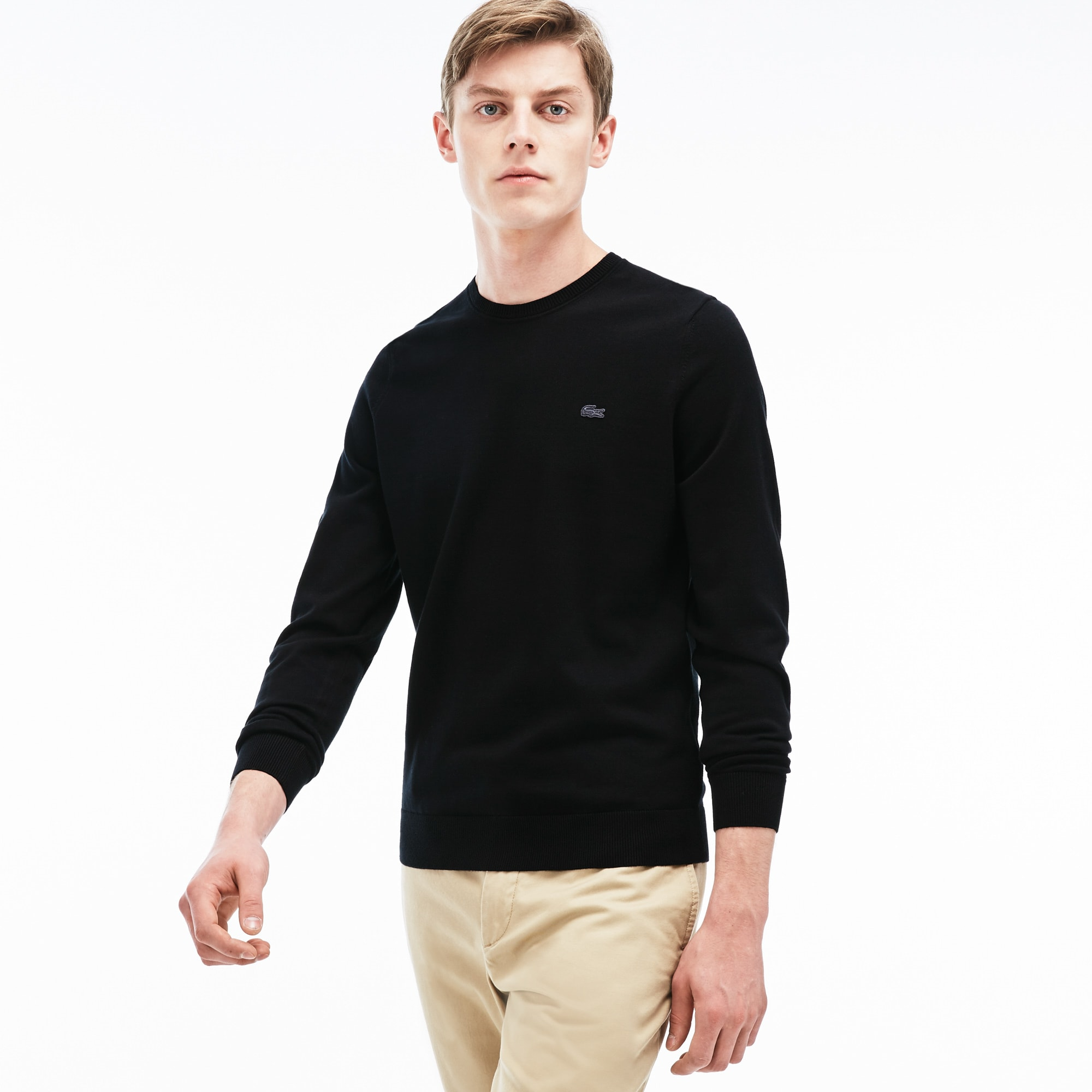 Men's Cotton Jersey Crewneck Sweater | LACOSTE
