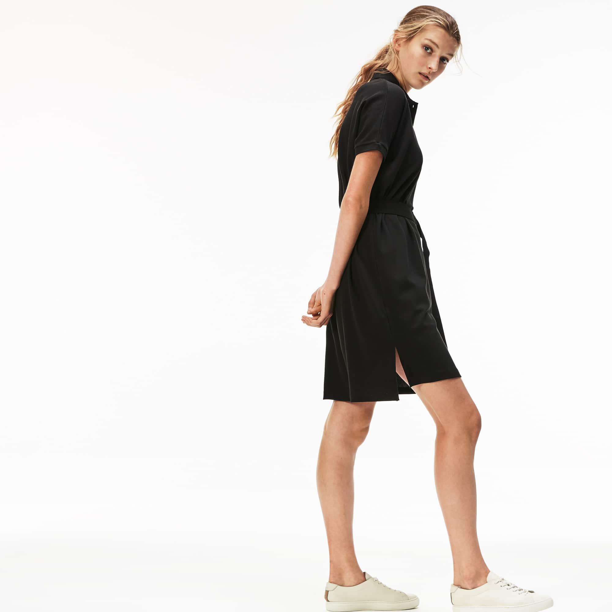 Women's Flowing Cotton Piqué Polo Dress