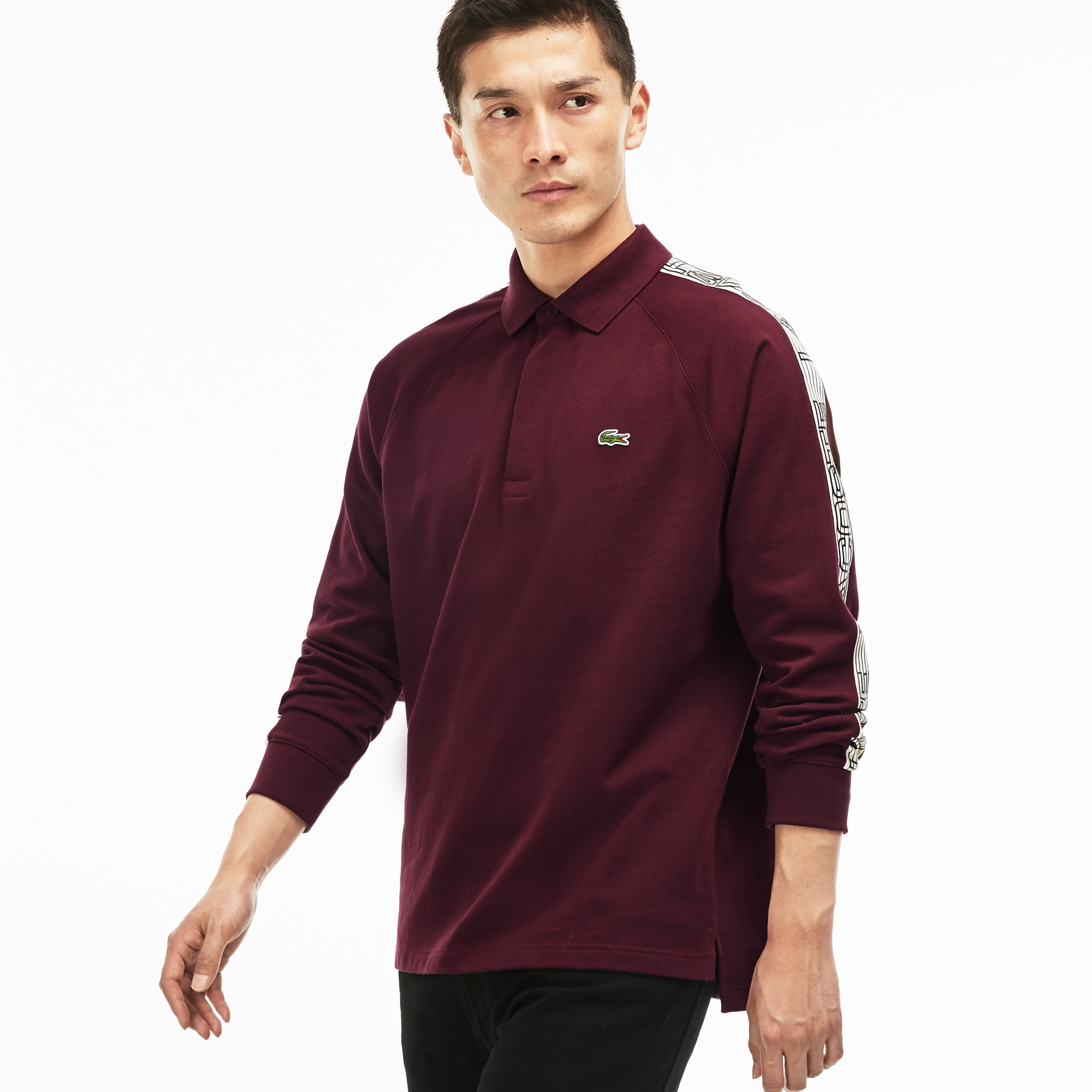 Men's  Contrast Band Jersey Polo
