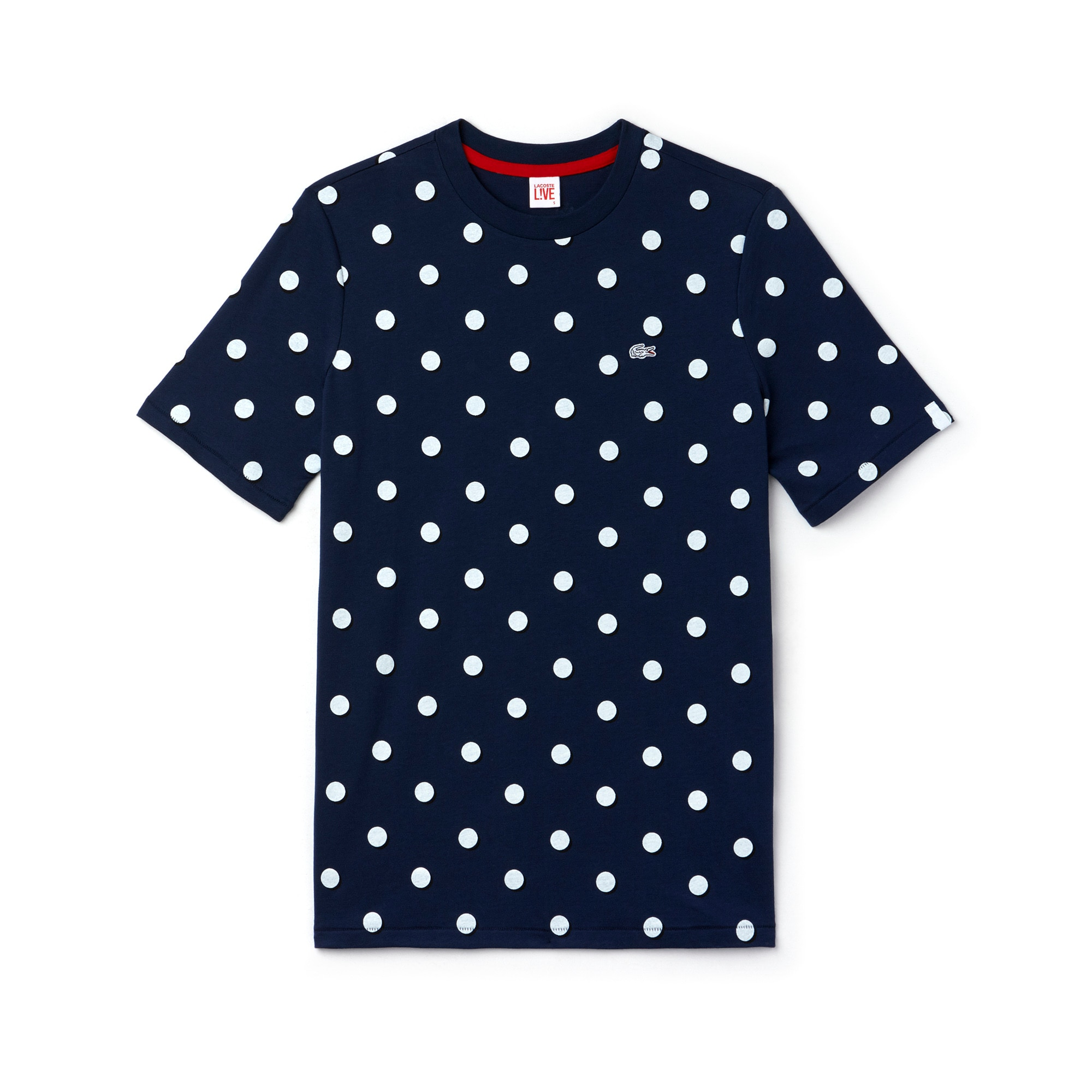 Women's L!VE Crew Neck Big Polka Dot Jersey T-shirt