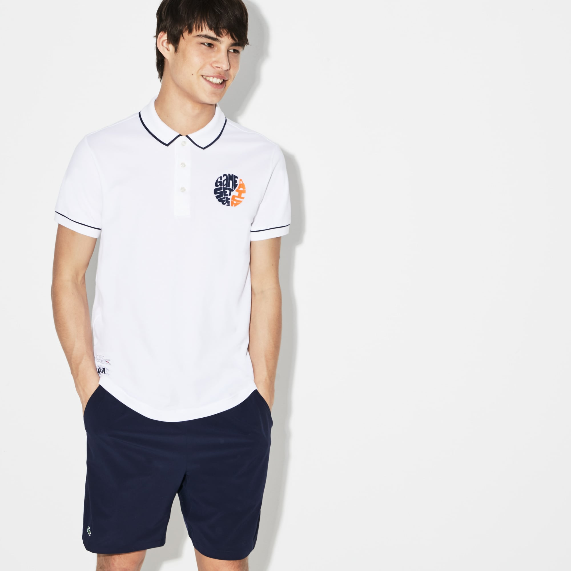 Men's SPORT Roland Garros Edition Stretch Mini Piqué Polo