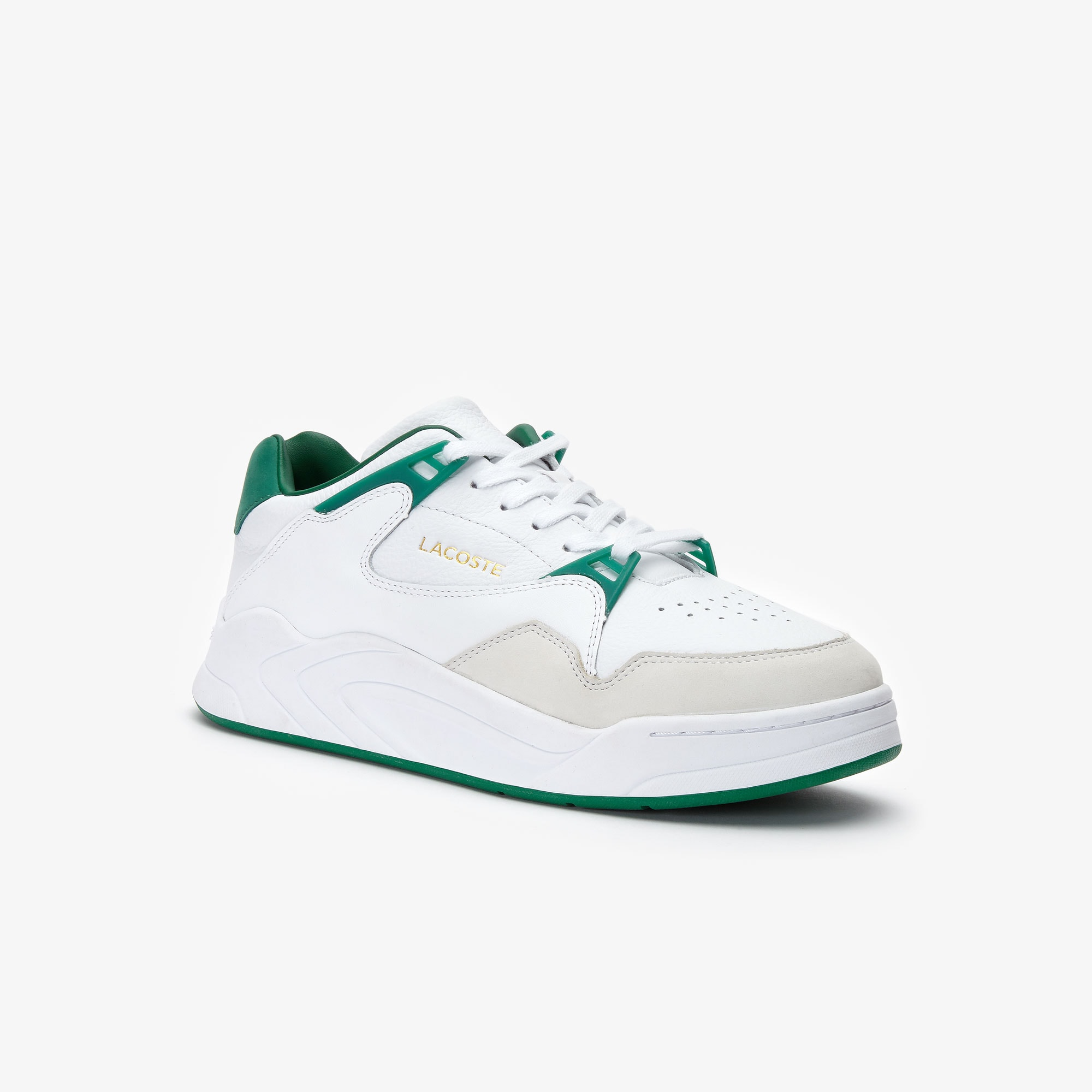 Men's Court Slam Two-Tone Leather Sneakers