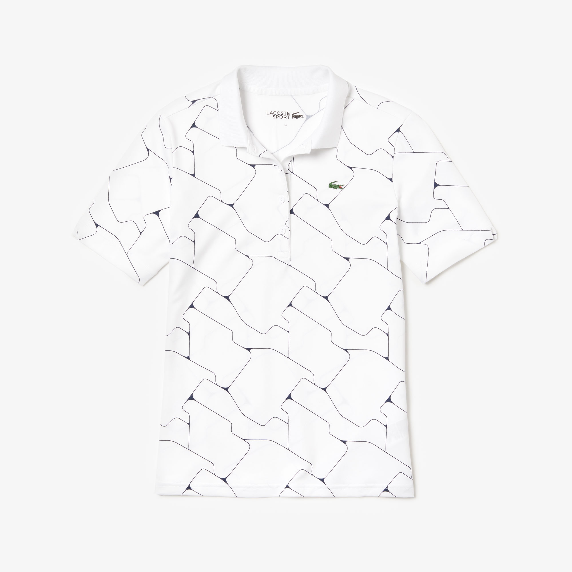Women's SPORT Printed Stretch Jersey Golf Polo