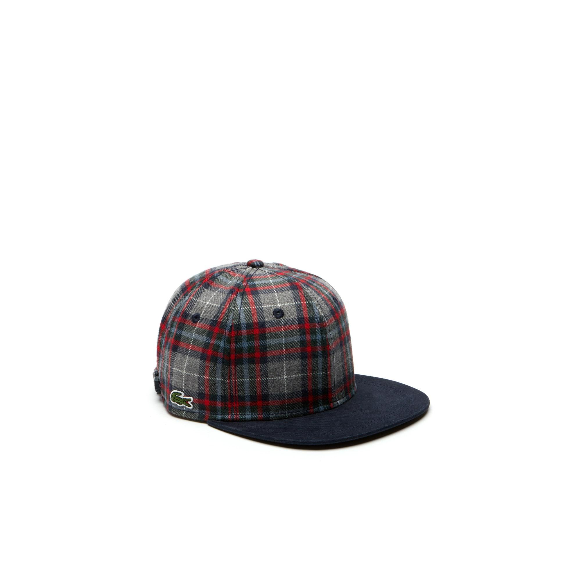 LIVE Contrasting Visor Check Flannel Cap