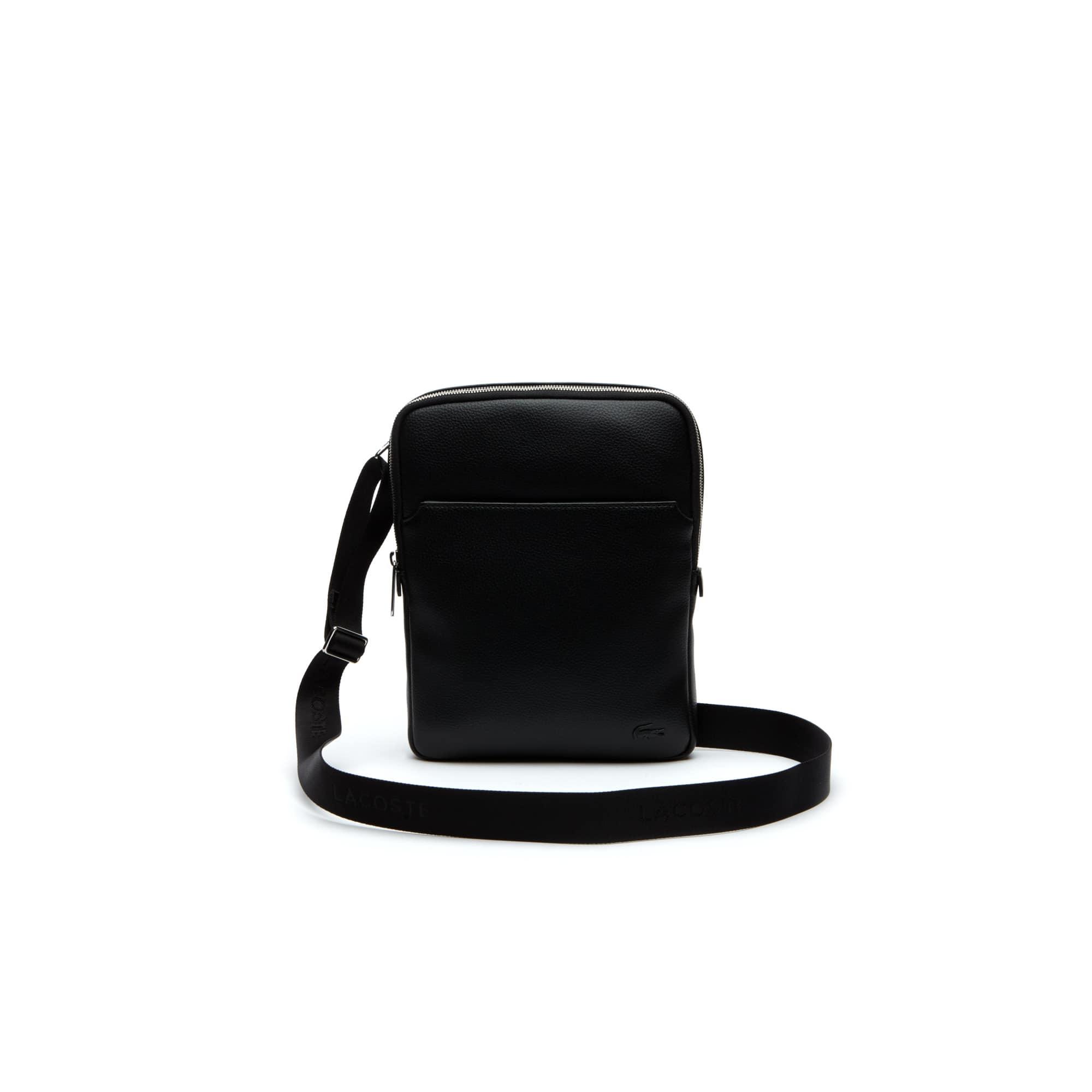 Men's Gaël Coated Canvas Flat Zip Bag