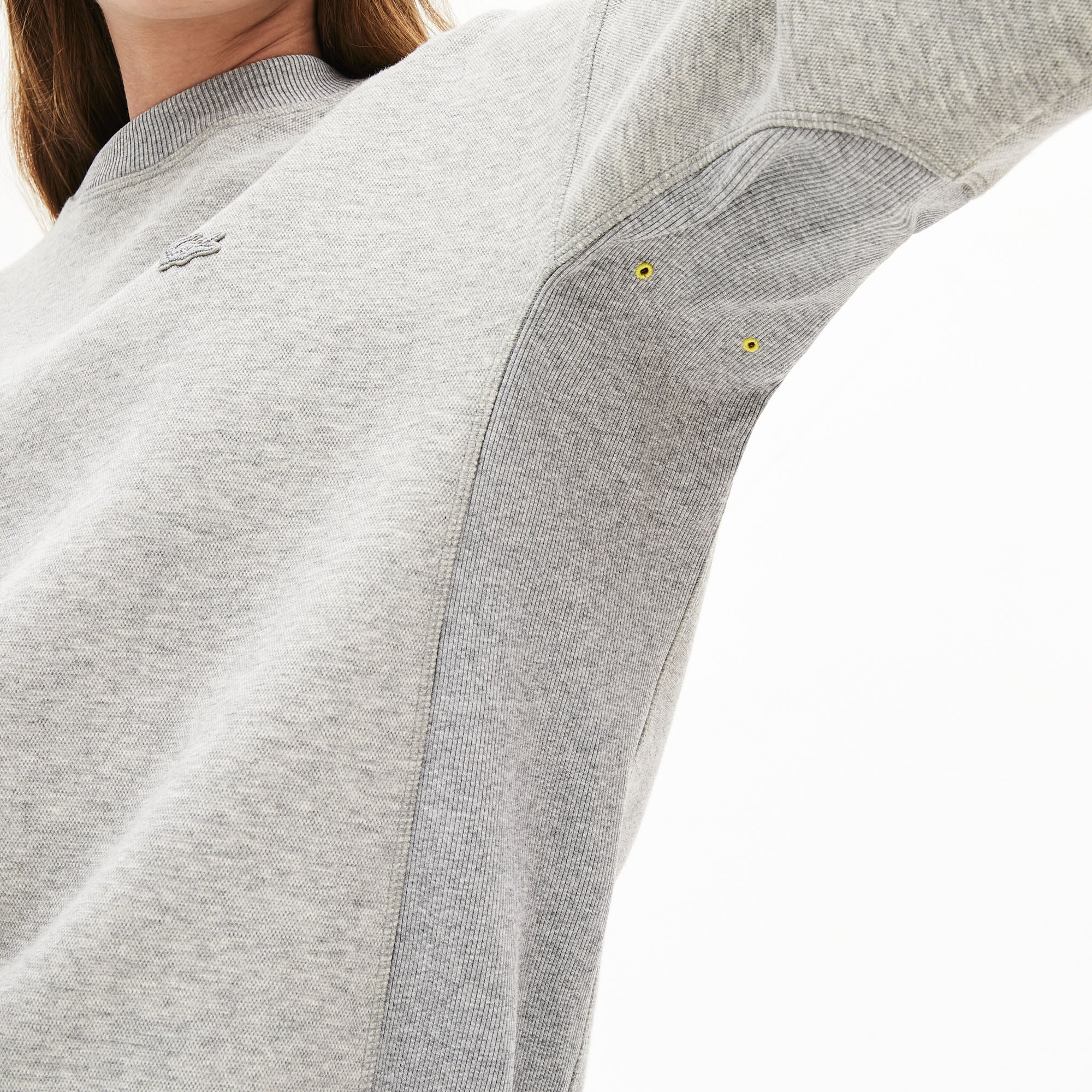 Women's Ribbed-Panel Two-Tone Sweatshirt