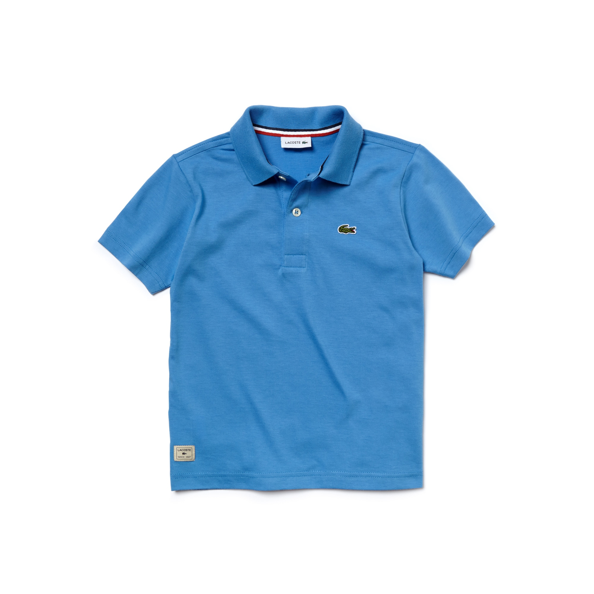 Boy's Solid Jersey Cotton Polo Shirt