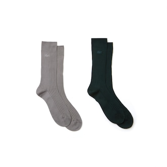 라코스테 양말 Lacoste Mens Ribbed Socks,Grey