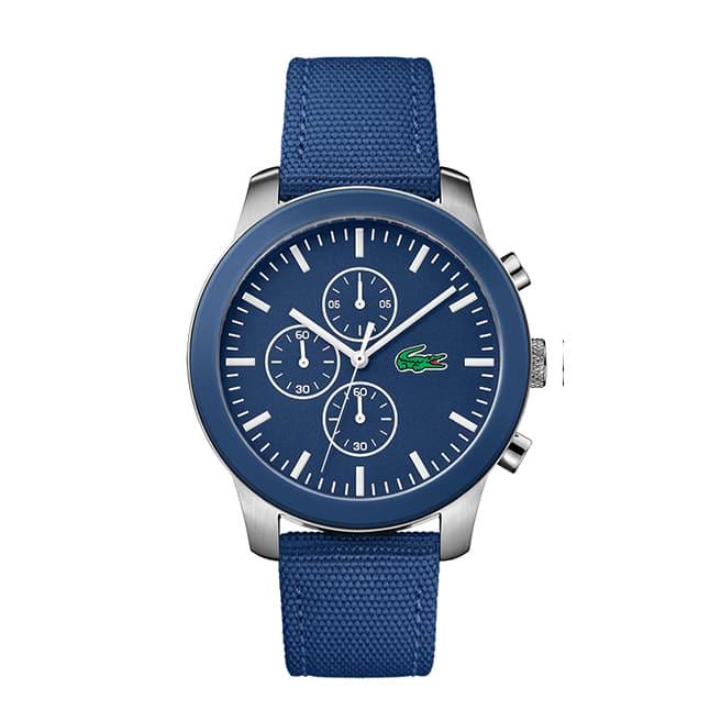 Men's Lacoste 12.12 Blue Textile Strap