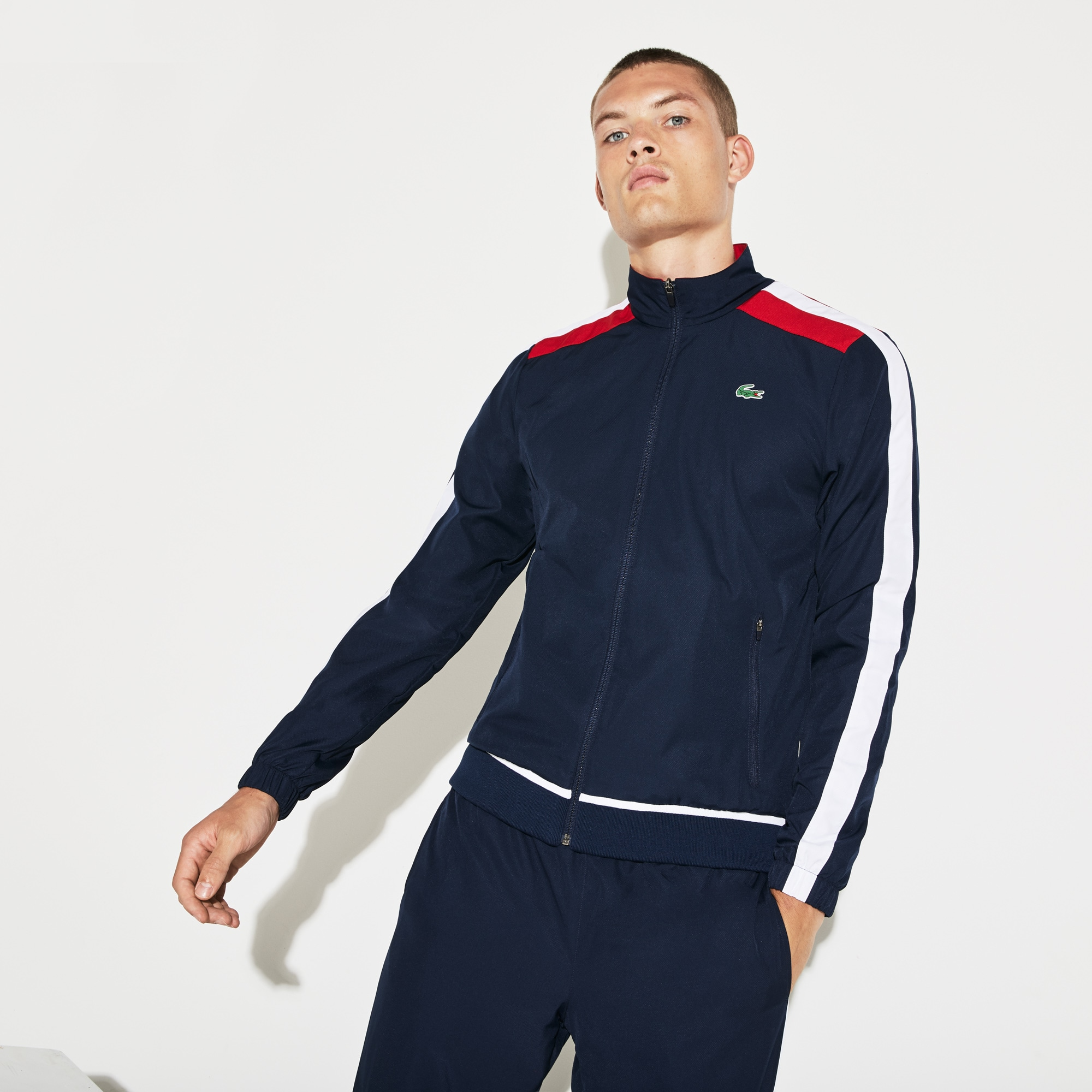 Men's SPORT Colored Bands Taffeta Tennis Tracksuit