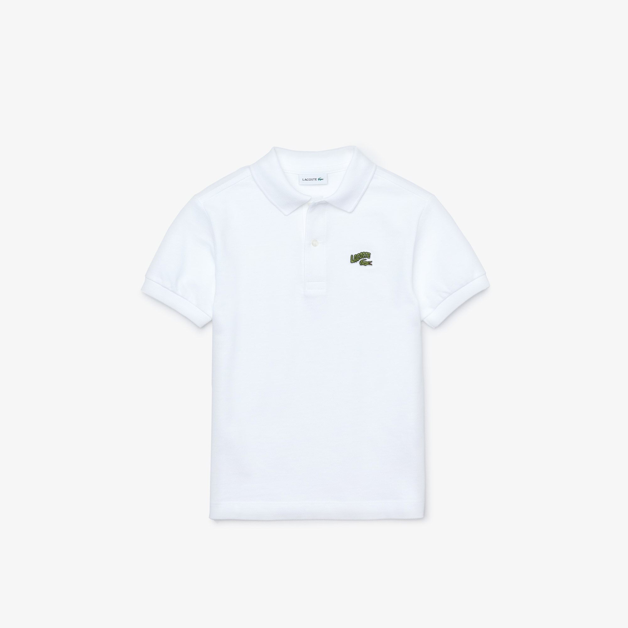 라코스테 보이즈 피케 폴로 Lacoste Boys' Stylized Logo Cotton Petit Pique Polo