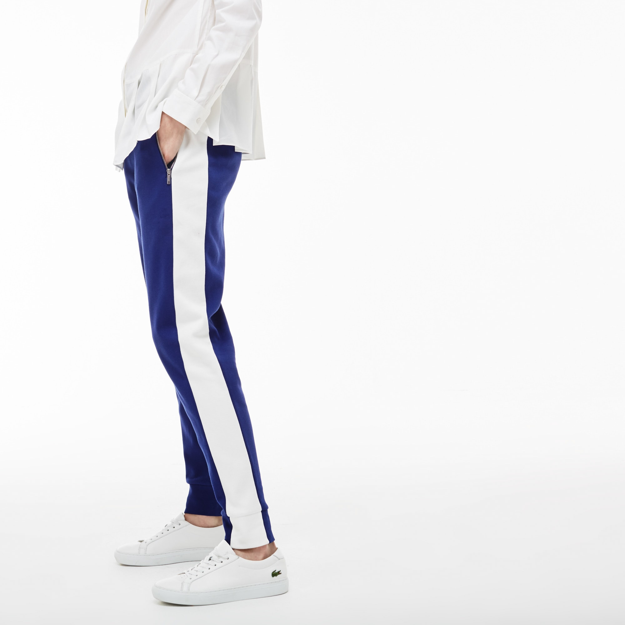 Women's Contrast Band Interlock Jogging Pants