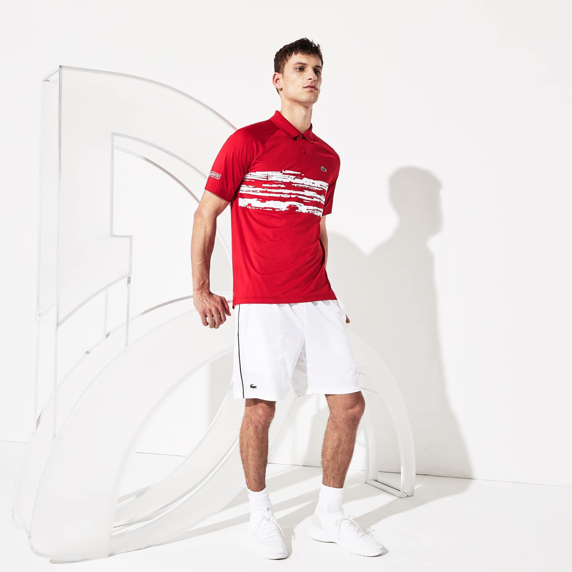 Men's SPORT Novak Djokovic Stretch Print Jersey Polo