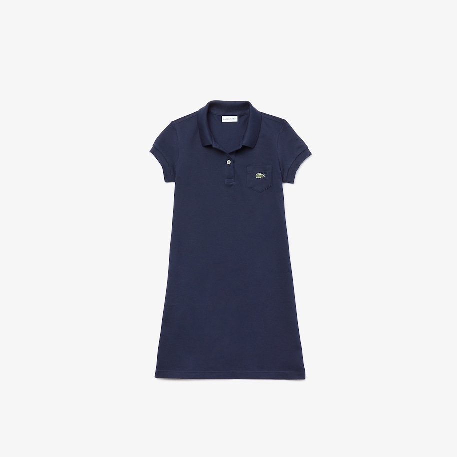 Girl's Polo-Style Cotton Dress
