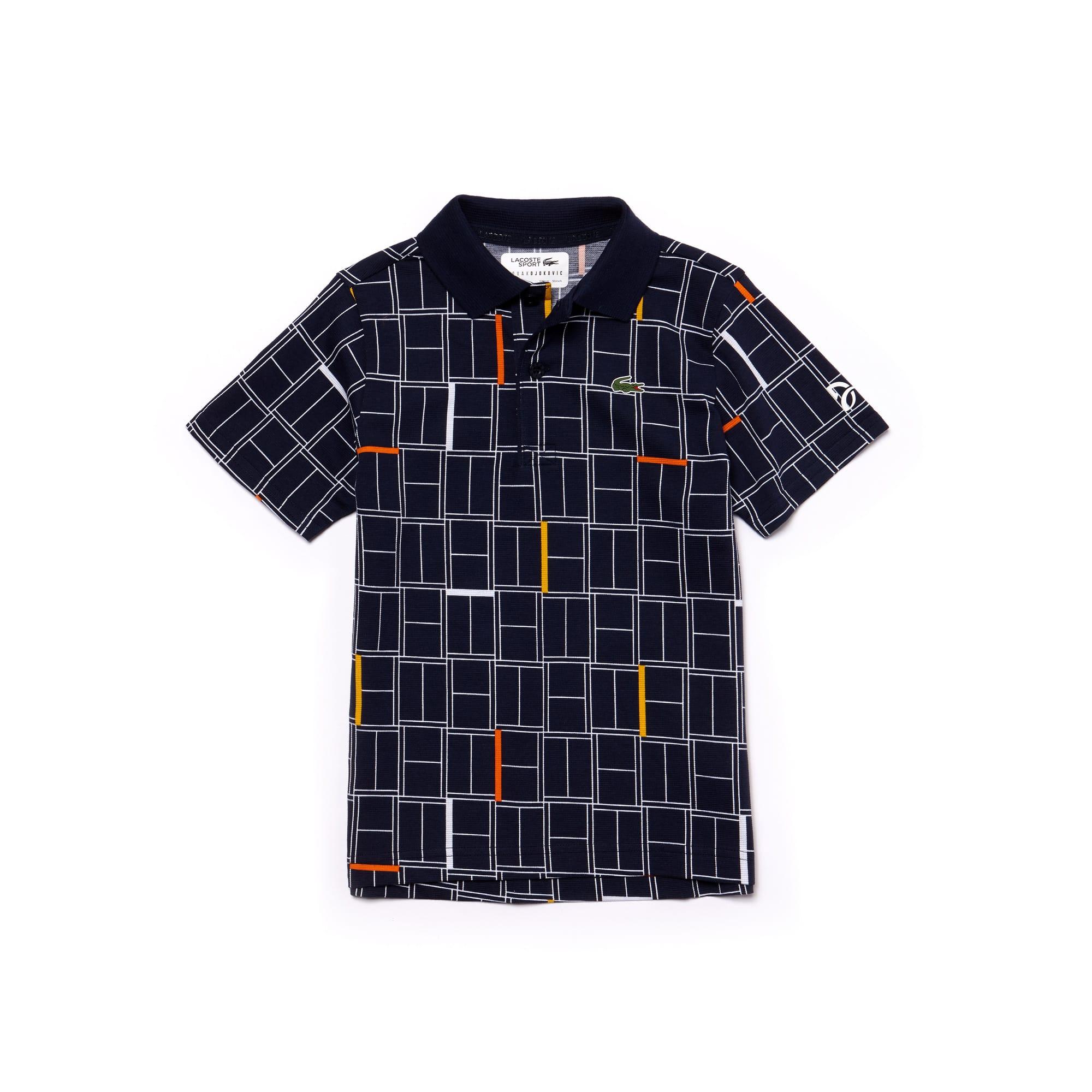 Boys' SPORT Print Light Cotton Polo - x Novak Djokovic