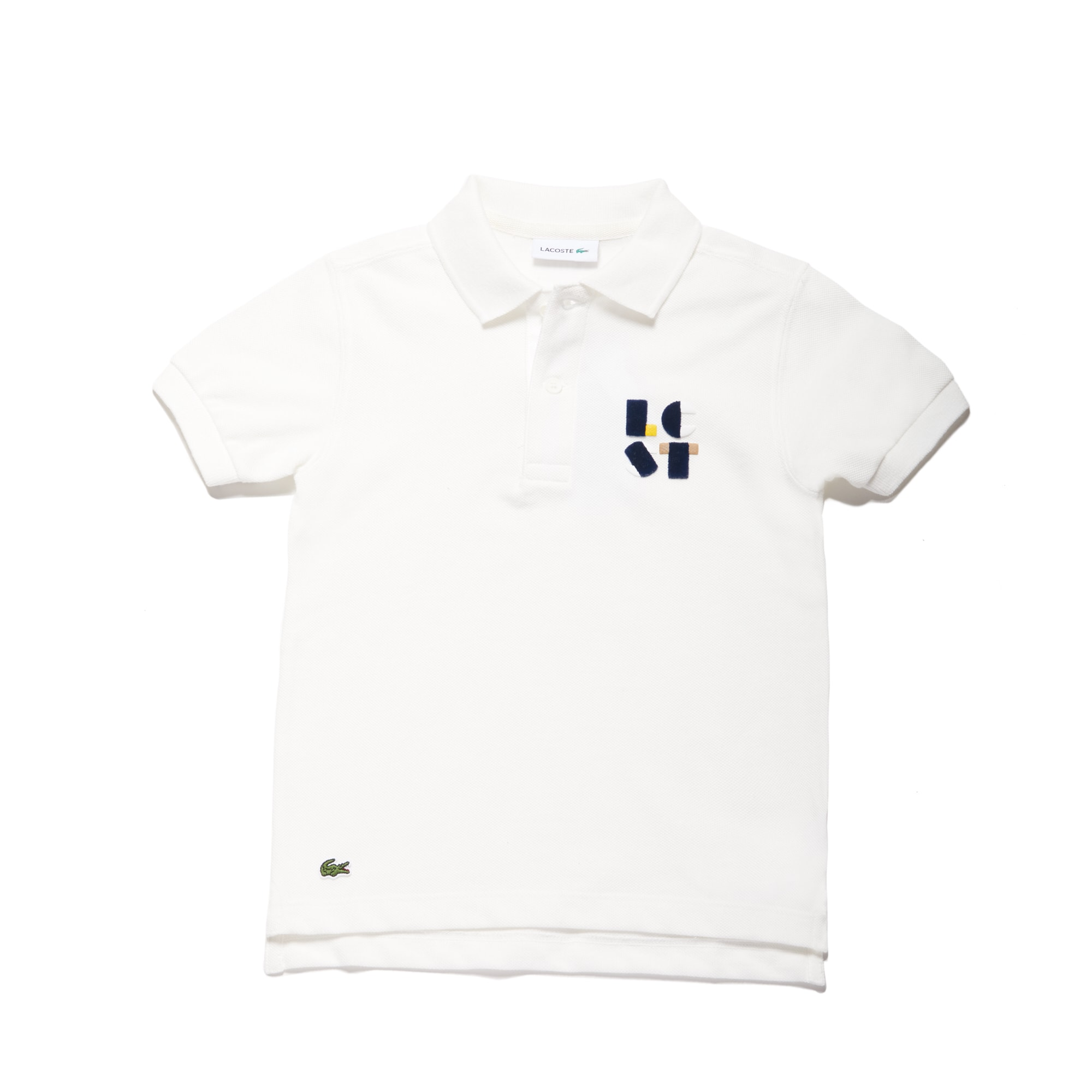 Boys' Lettering Cotton Petit Piqué Polo