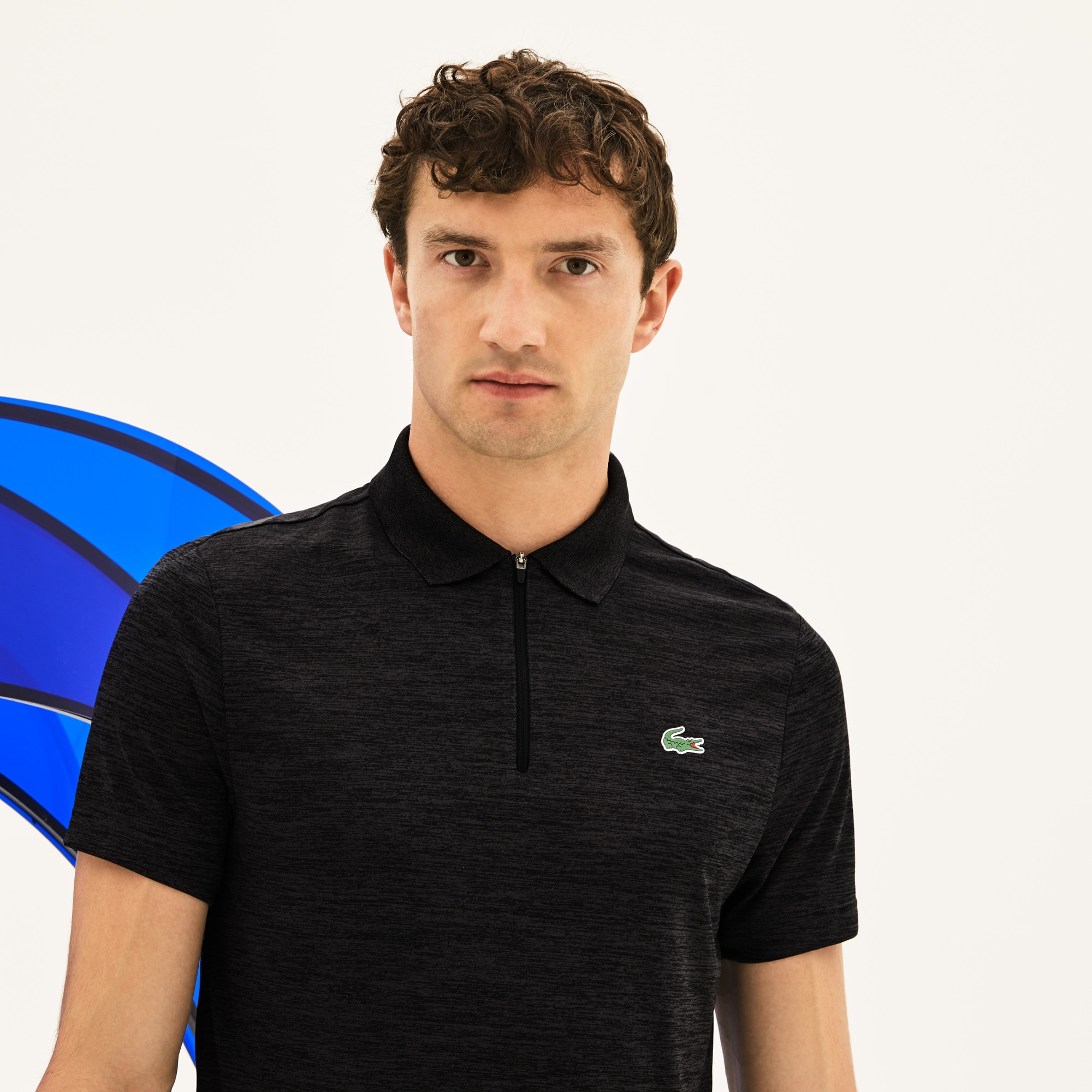 Polo Lacoste SPORT x Novak Djokovic - en jersey technique chiné