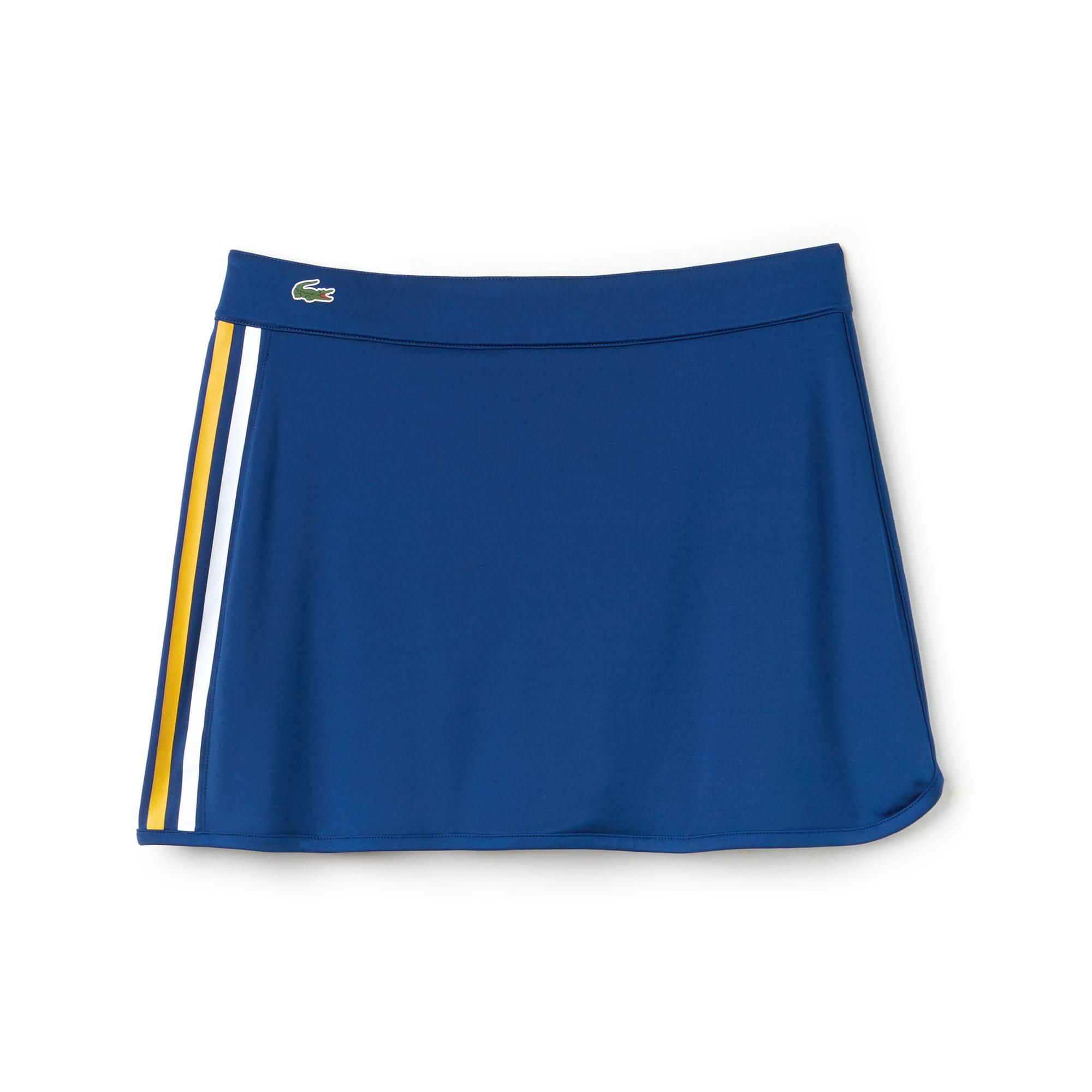 Women's SPORT Contrast Bands Tech Jersey Tennis Skirt