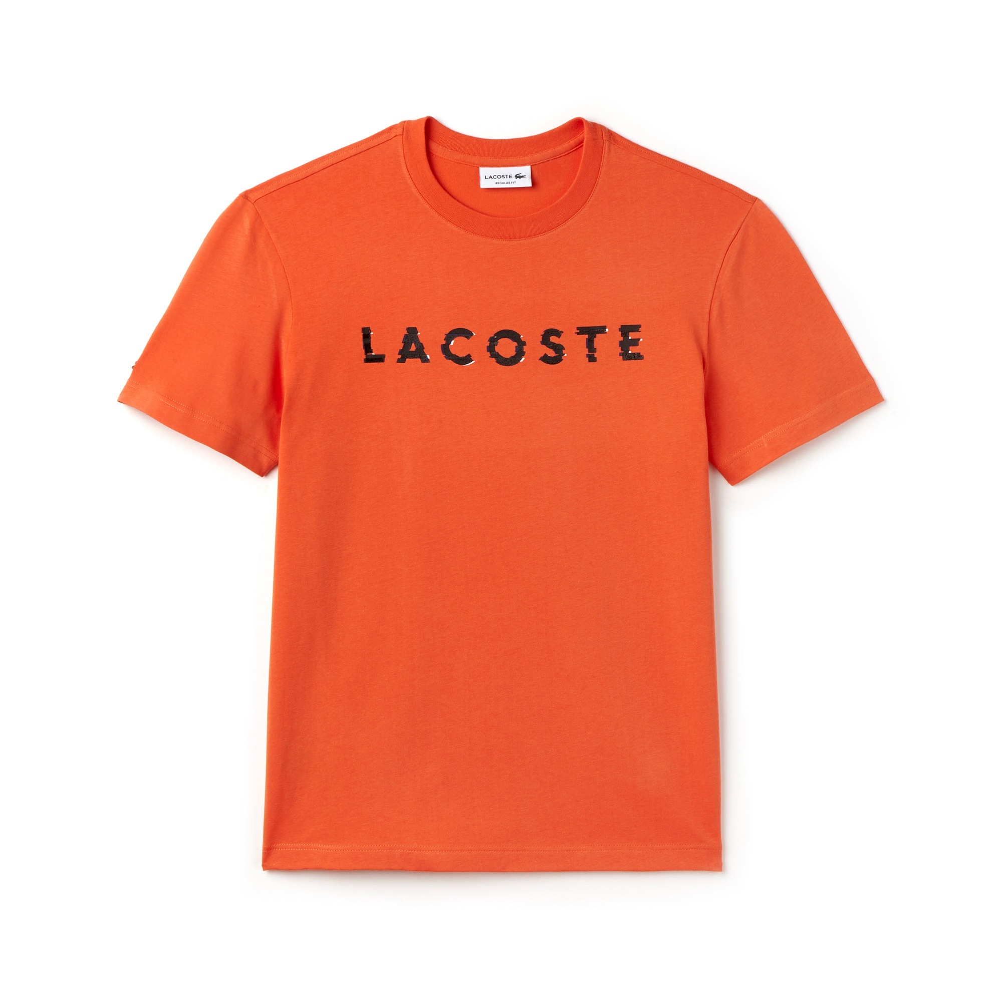 Men's Lacoste Lettering Crew Neck Jersey T-Shirt