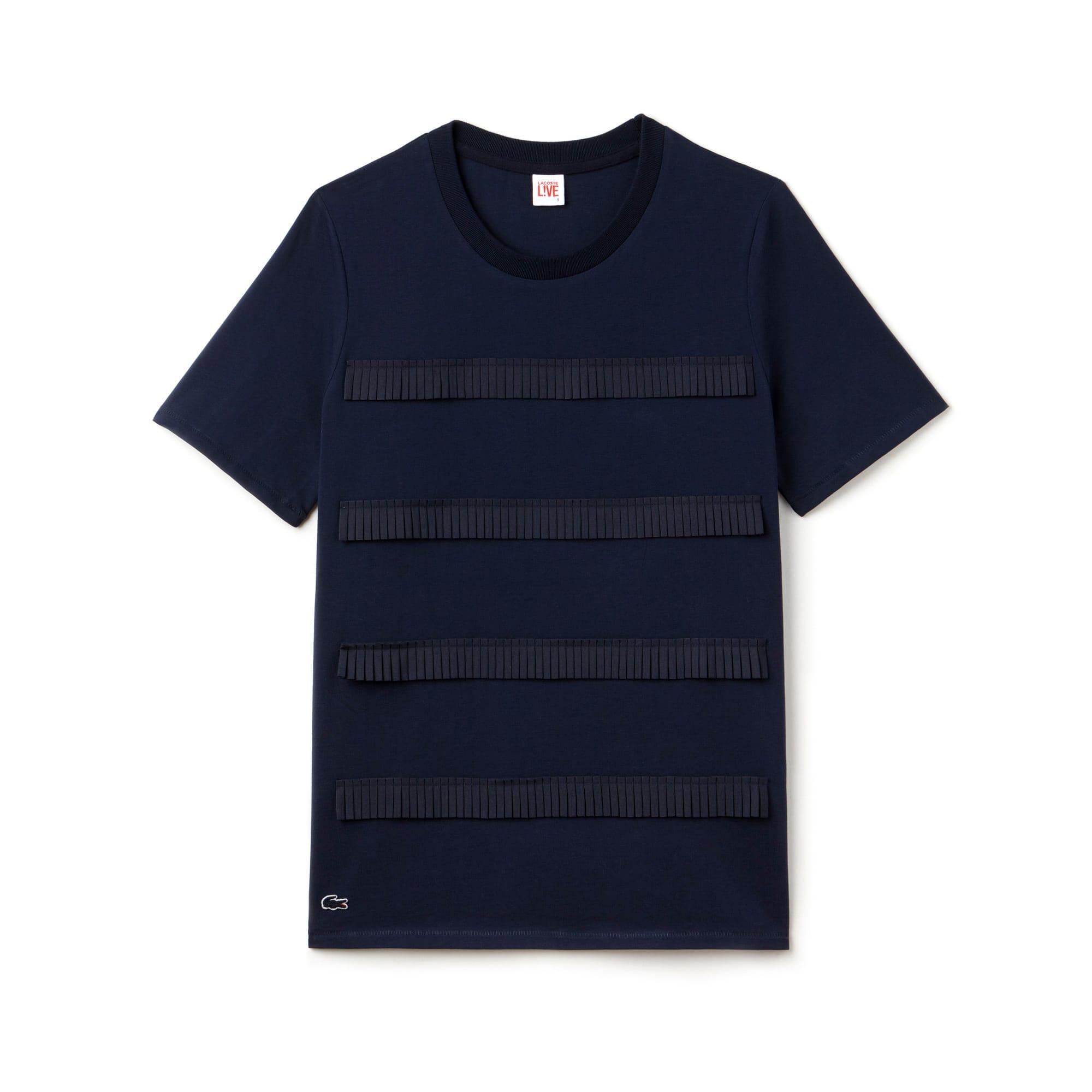 Women's L!VE Mini Pleated Stripe T-Shirt