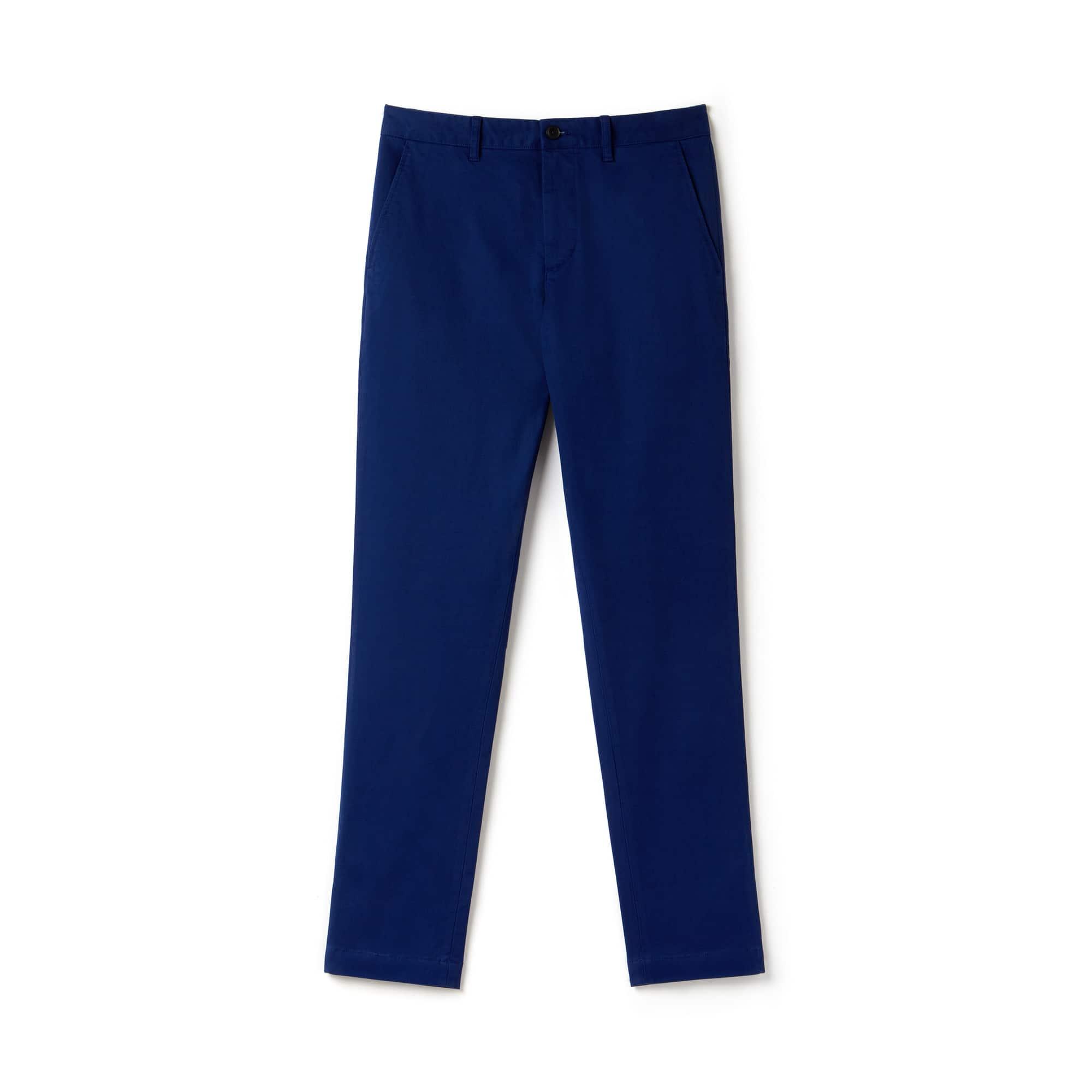 라코스테 Lacoste Mens Slim Fit Stretch Gabardine Chino Pants,navy blue