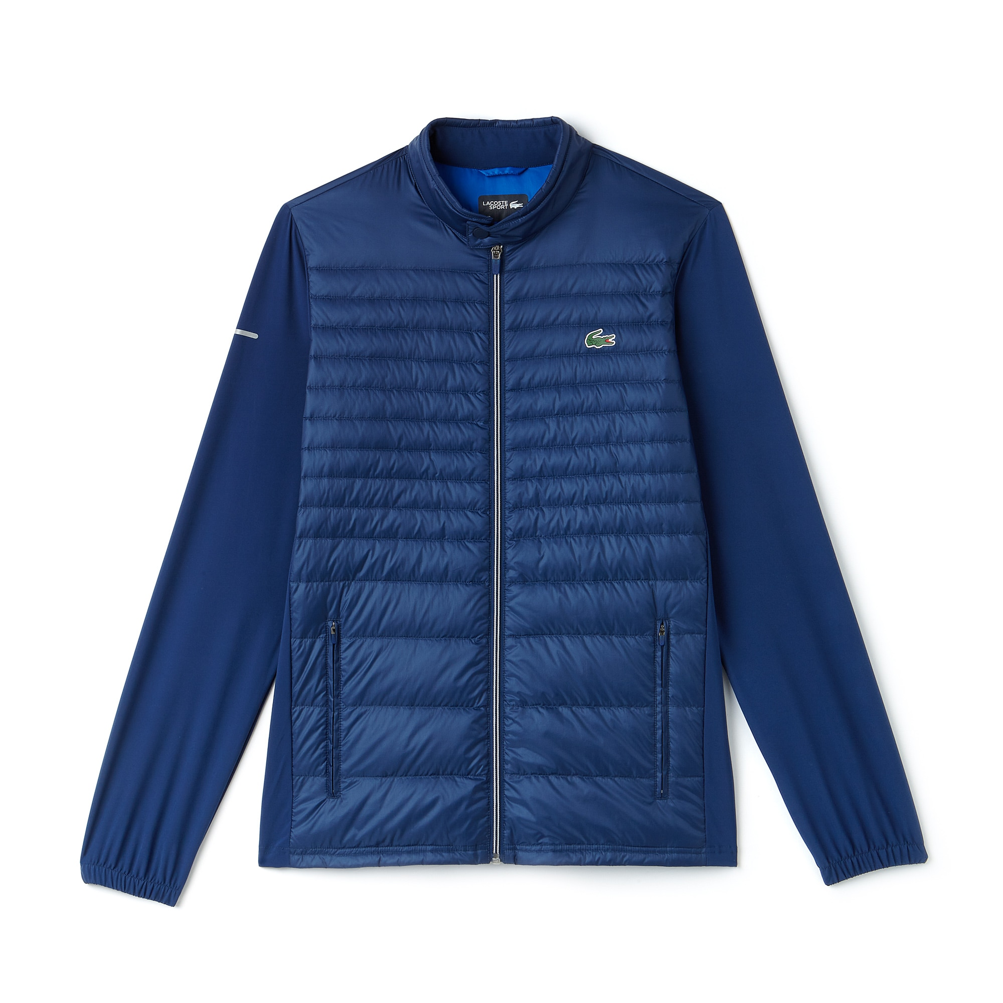 라코스테 스포츠 자켓 Lacoste Mens SPORT Water-Resistant Technical Quilted Golf Jacket,inkwell/blue royal