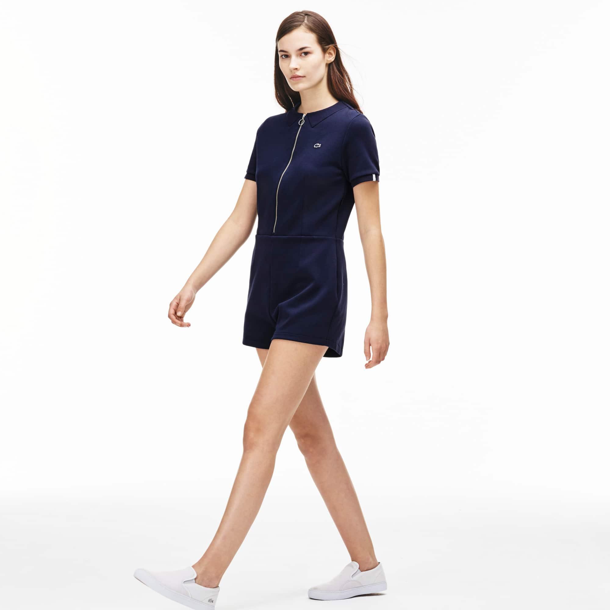 Women's L!VE Stretch Cotton Zippered Playsuit