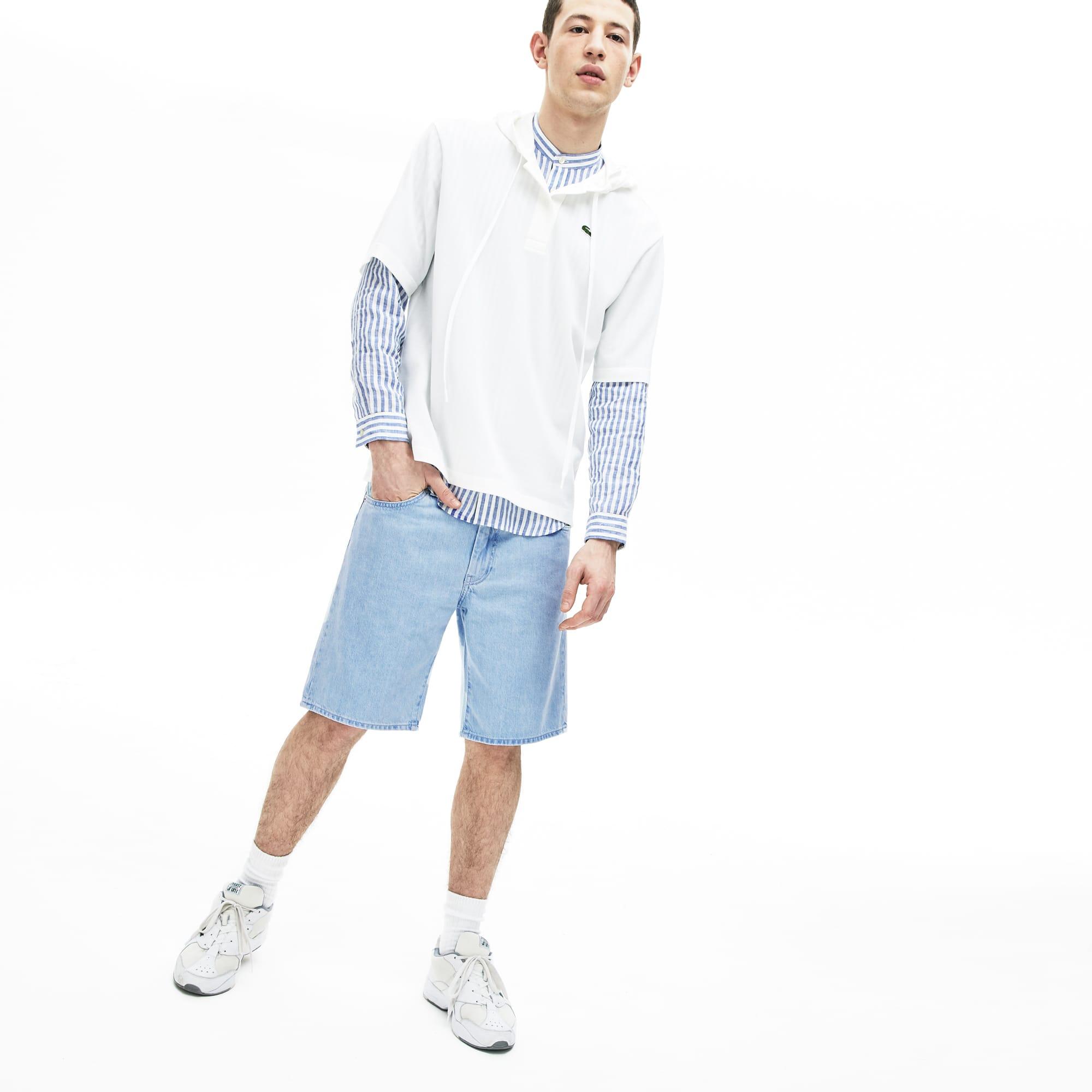 라코스테 Lacoste Mens Regular Fit Five-Pocket Denim Shorts