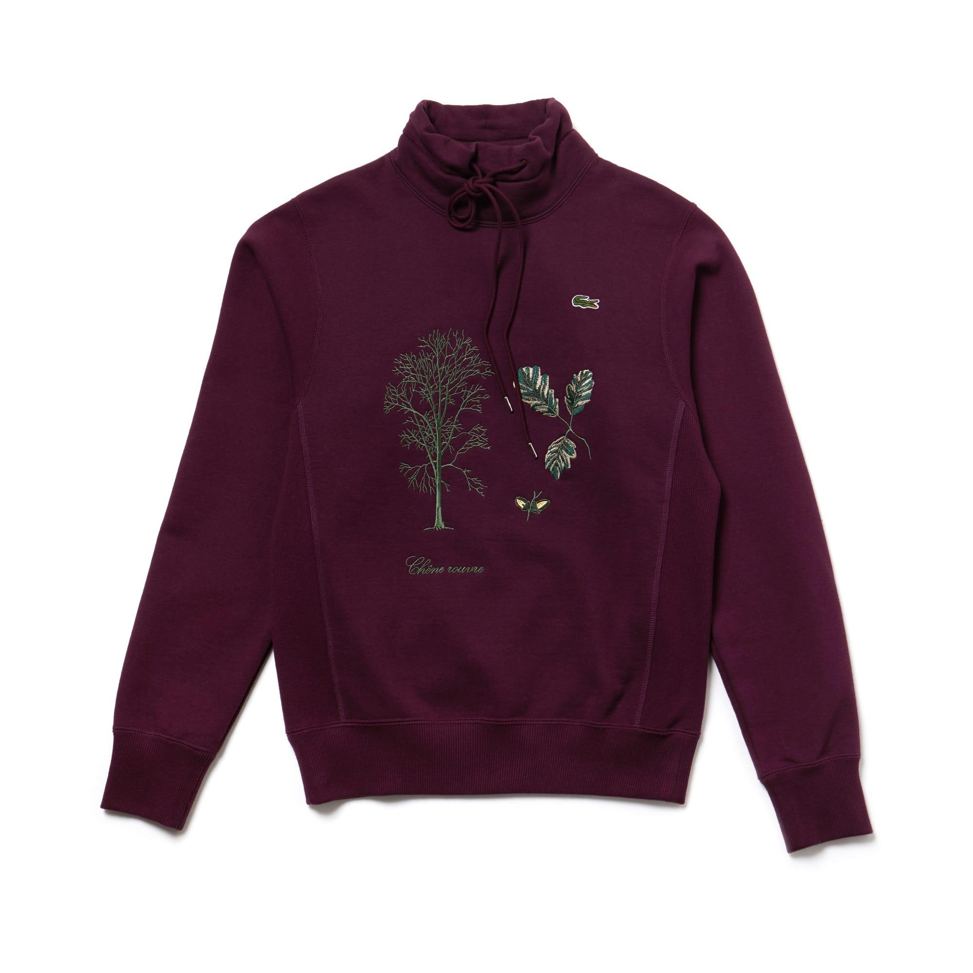 Unisex Fashion Show Stand-Up Collar Embroidered Fleece Sweatshirt