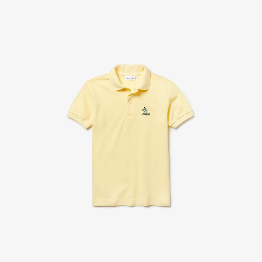 Boys' Embroidered Cotton Petit Piqué Polo