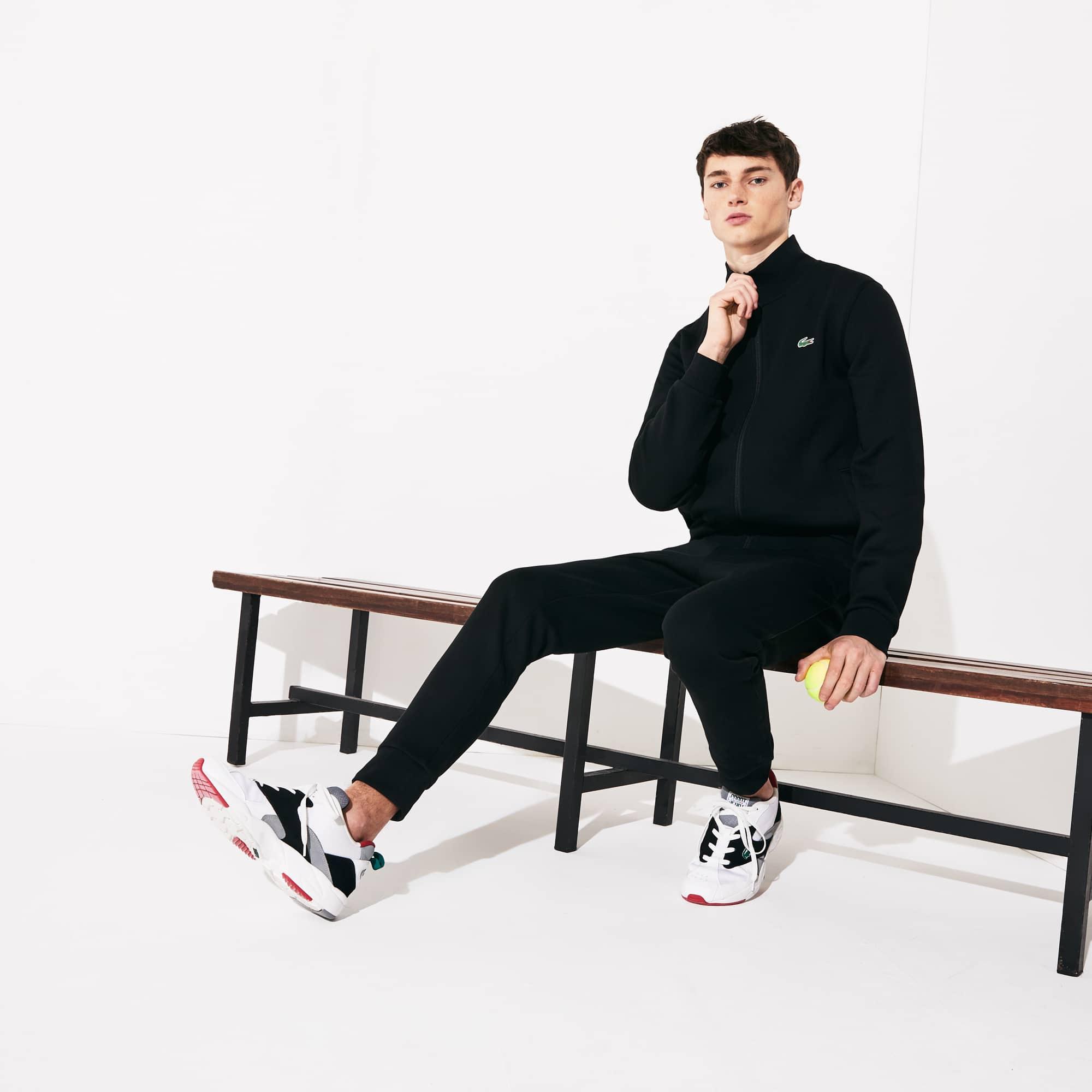 Lacoste Suits Men's SPORT Piped Fleece Sweatsuit