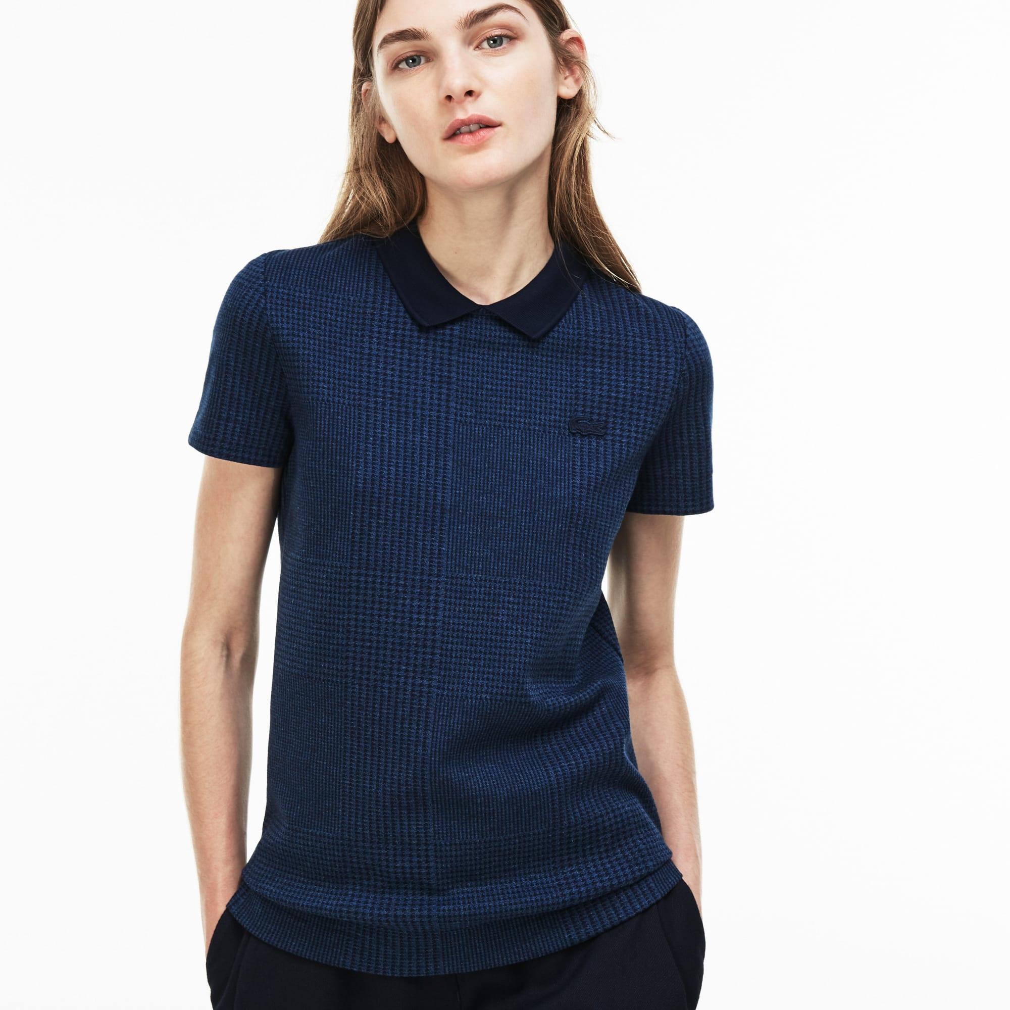 Women's  Slim Fit Glen Plaid Mini Jacquard Polo
