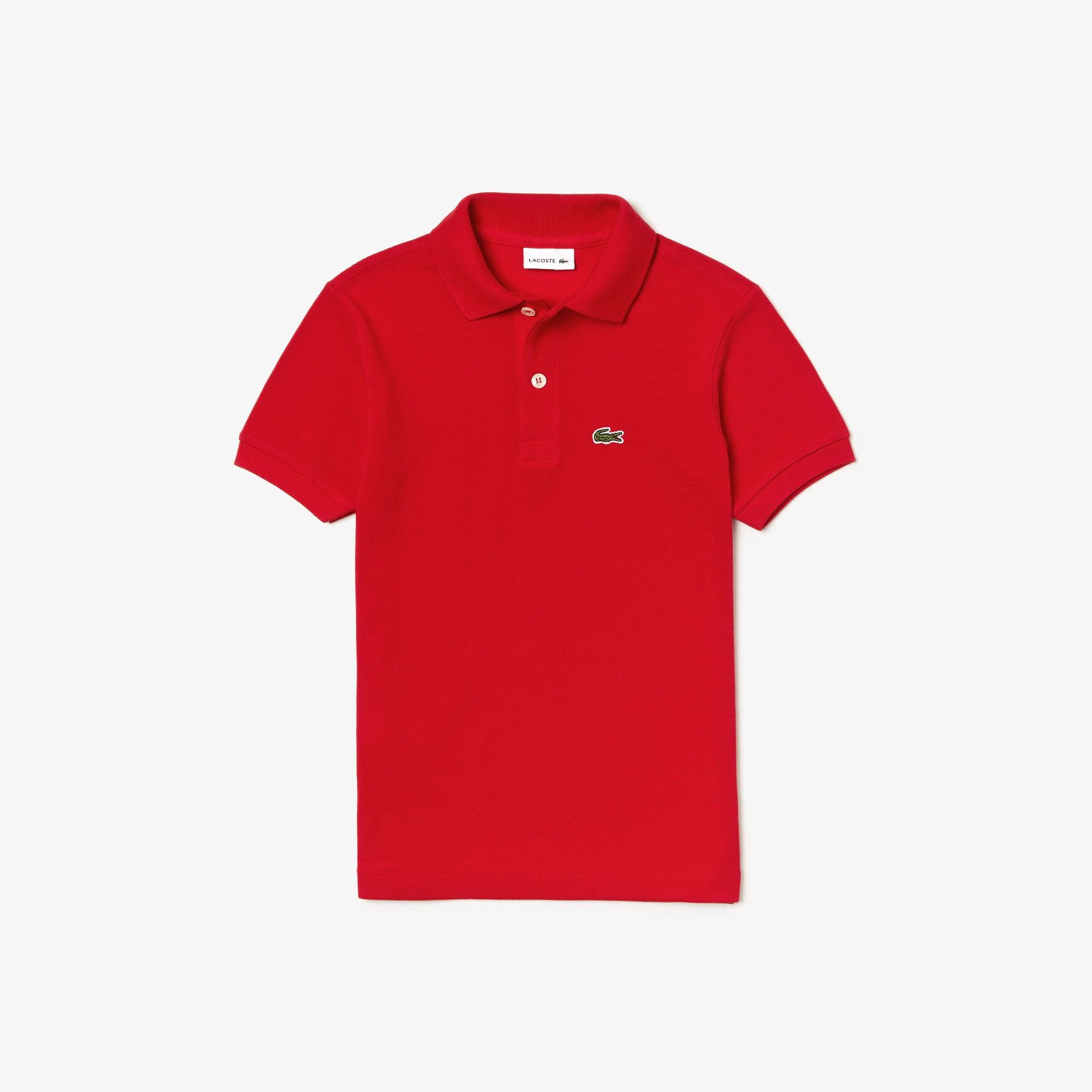 라코스테 보이즈 클래식 피케 폴로셔츠 - 레드(240) Lacoste Boys' Classic Pique Polo