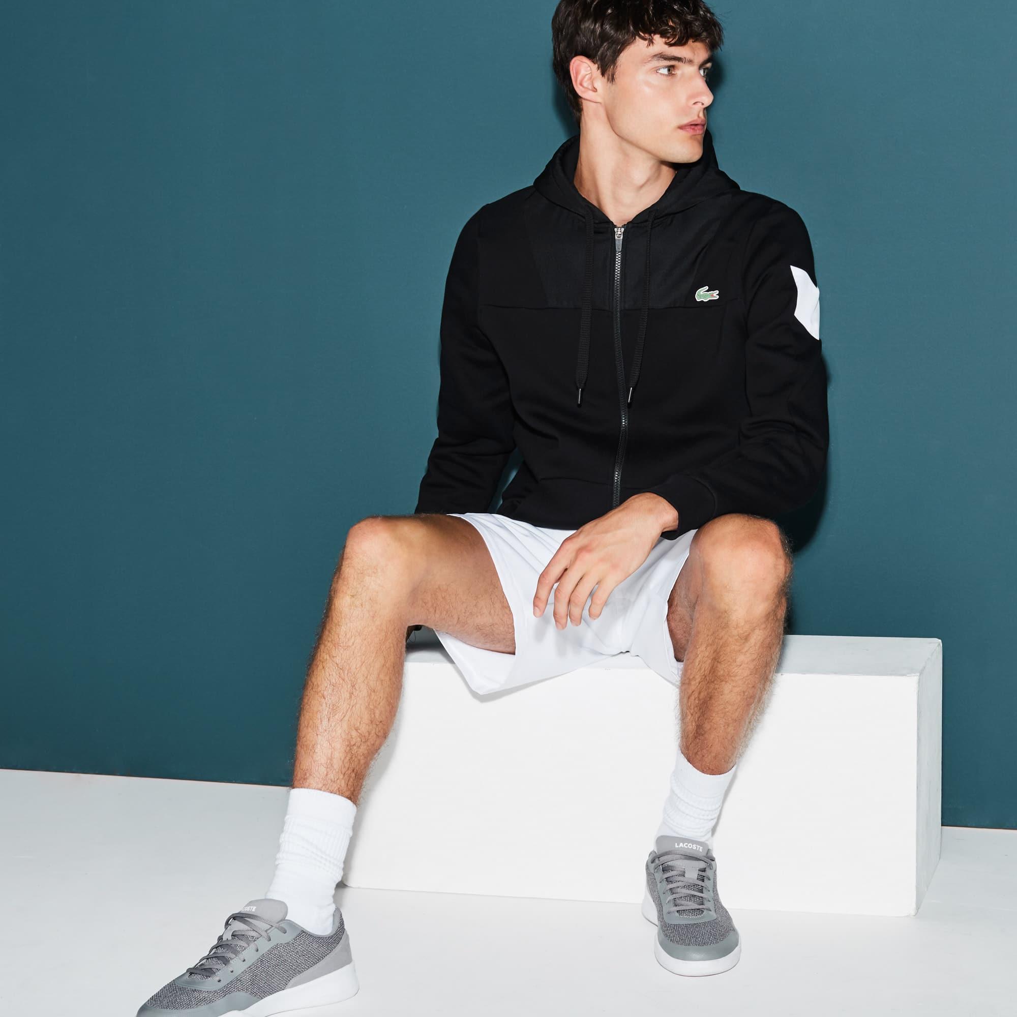 Men's  SPORT Tennis Colorblock Bi-material Zip Sweatshirt